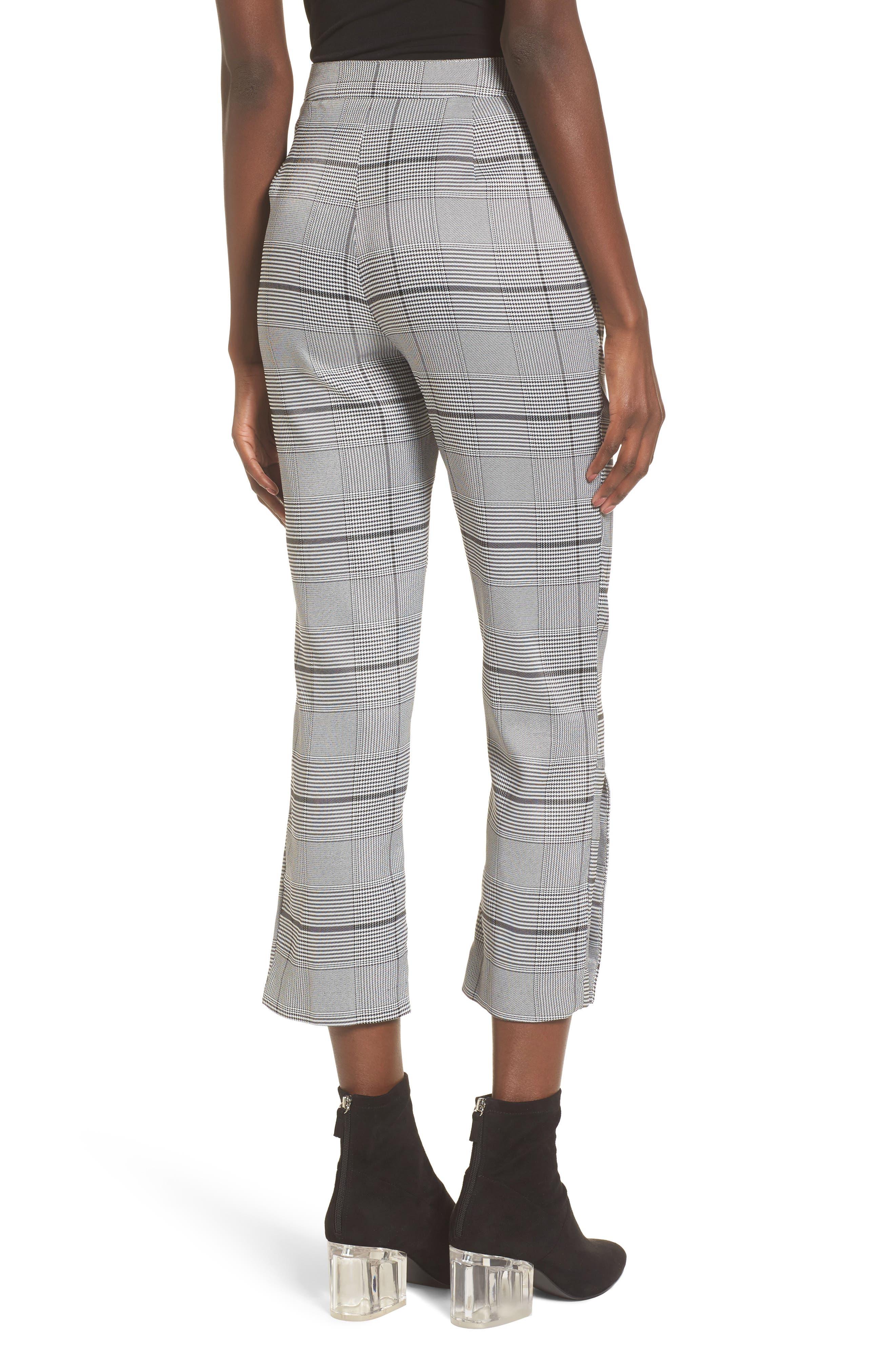 Crop Plaid Pants,                             Alternate thumbnail 2, color,