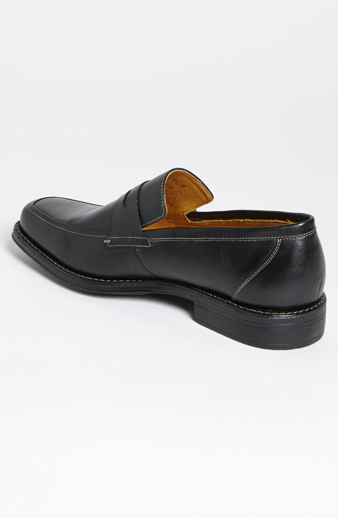'Stuart' Penny Loafer,                             Alternate thumbnail 2, color,                             BLACK