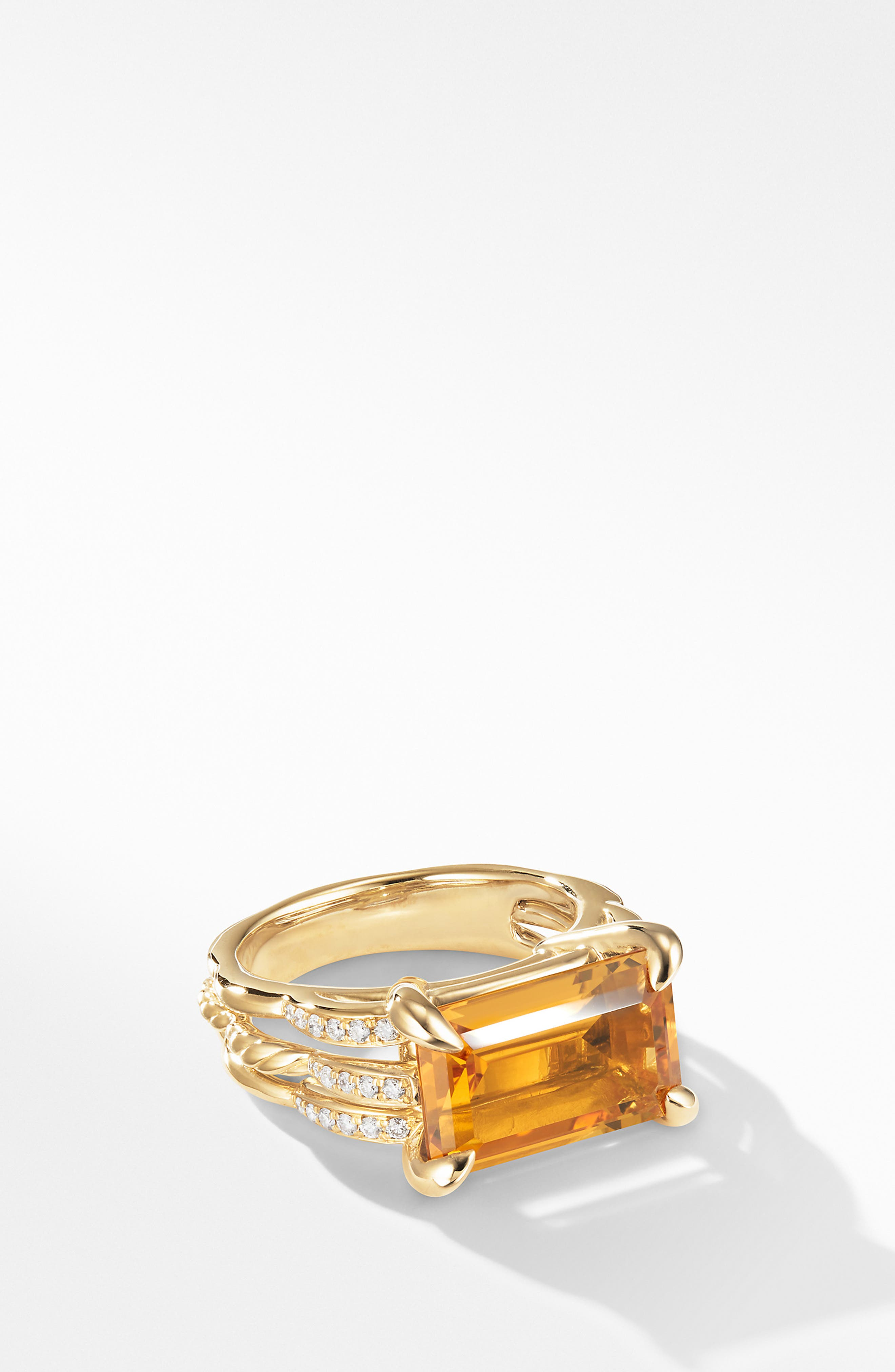 Tides Ring in 18k Gold with Diamonds, Main, color, GOLD/ CITRINE
