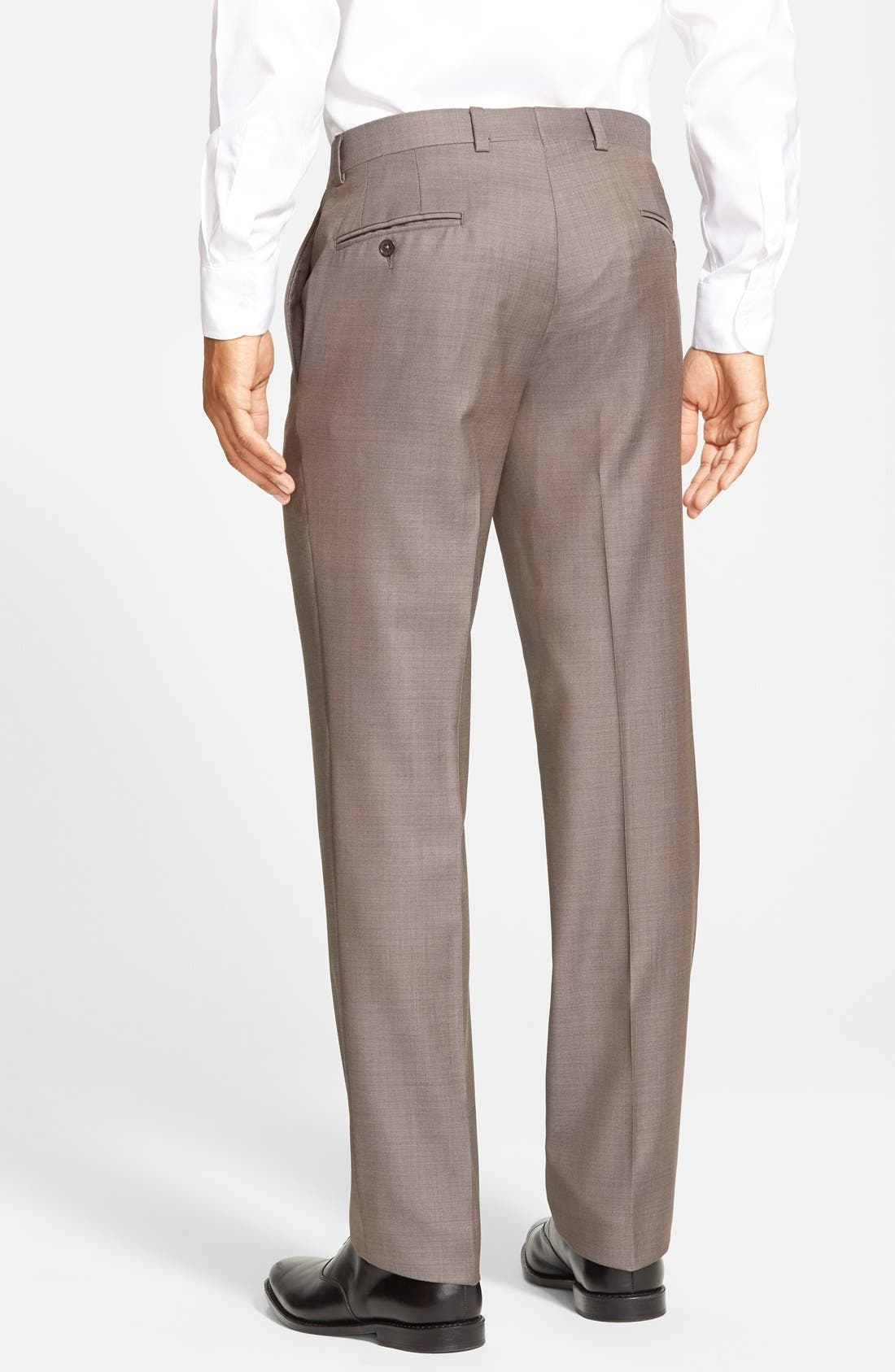 Jefferson Flat Front Wool Trousers,                             Alternate thumbnail 43, color,