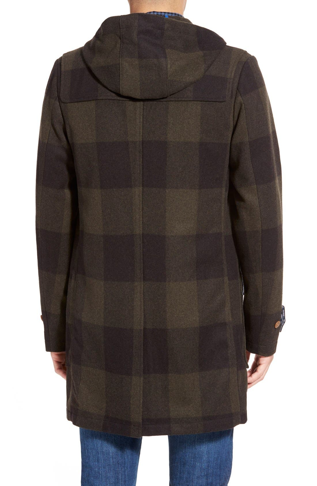 ORIGINAL PENGUIN,                             'Paddington' Wool Blend Duffle Coat,                             Alternate thumbnail 4, color,                             019