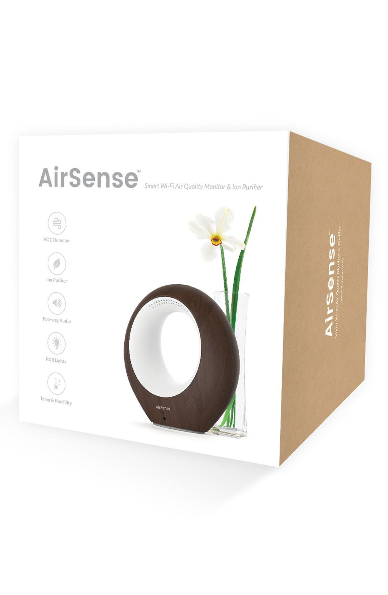 AirSense Air Purifier,                             Alternate thumbnail 2, color,                             DARK WOOD