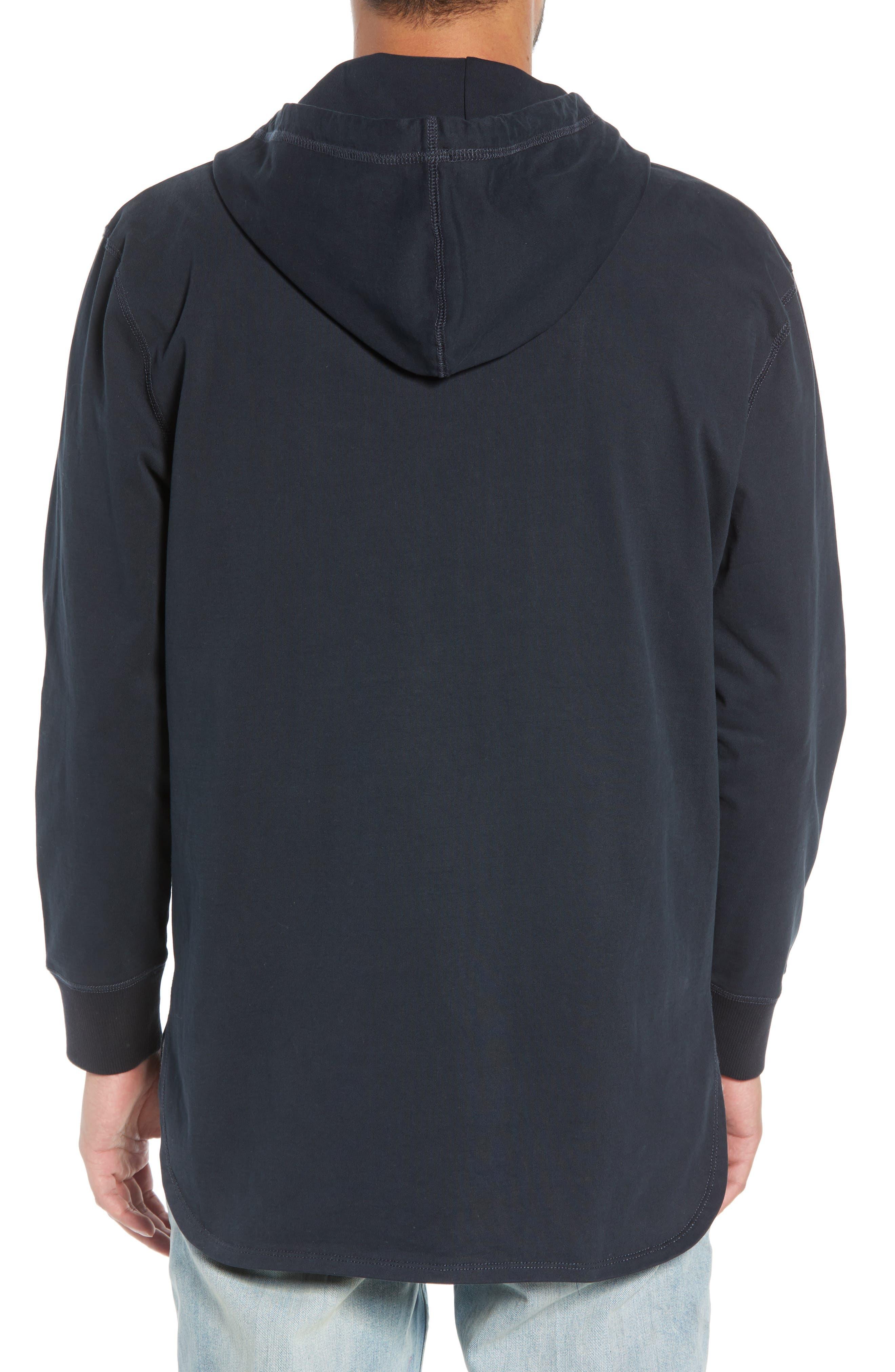 Jersey Zip Hoodie,                             Alternate thumbnail 2, color,                             001