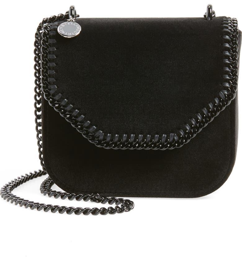 075ce604f45d Stella McCartney Mini Falabella Box Velvet Shoulder Bag