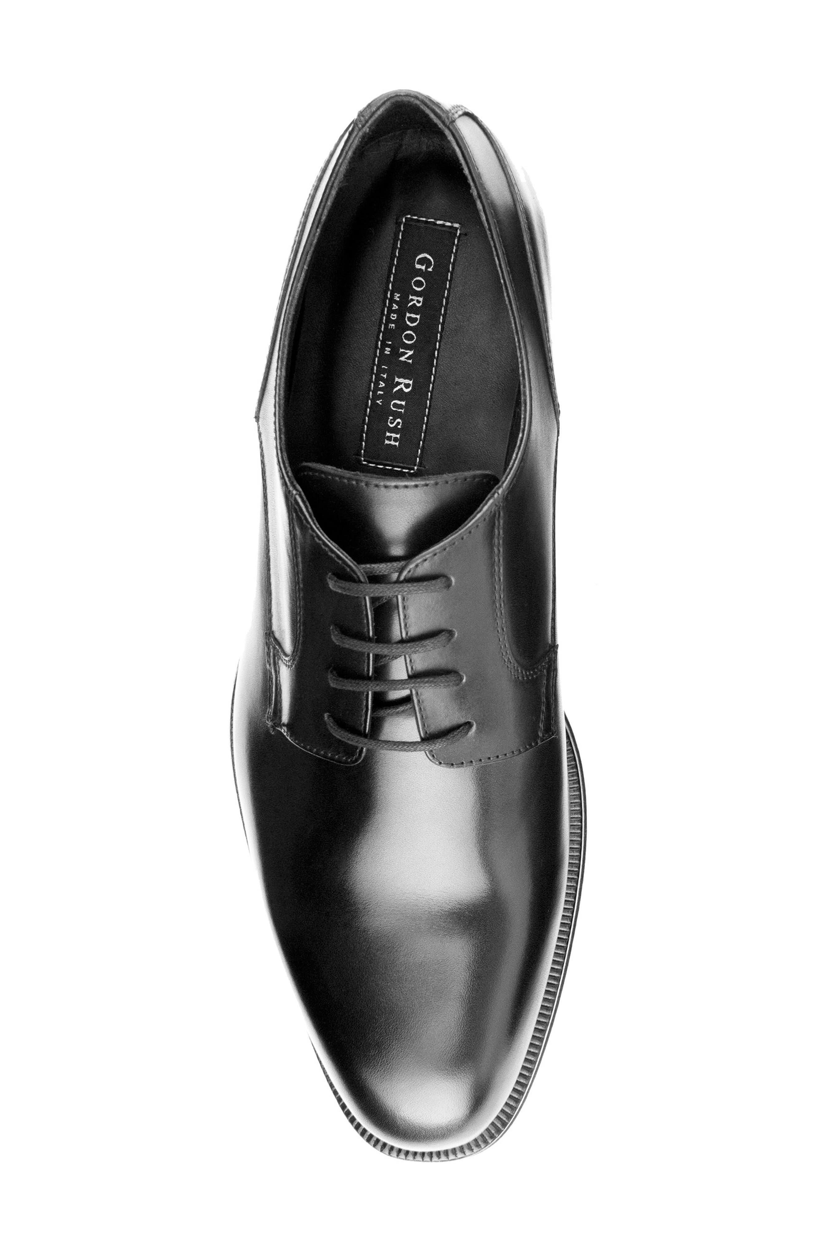 Devin Plain Toe Derby,                             Alternate thumbnail 5, color,                             BLACK