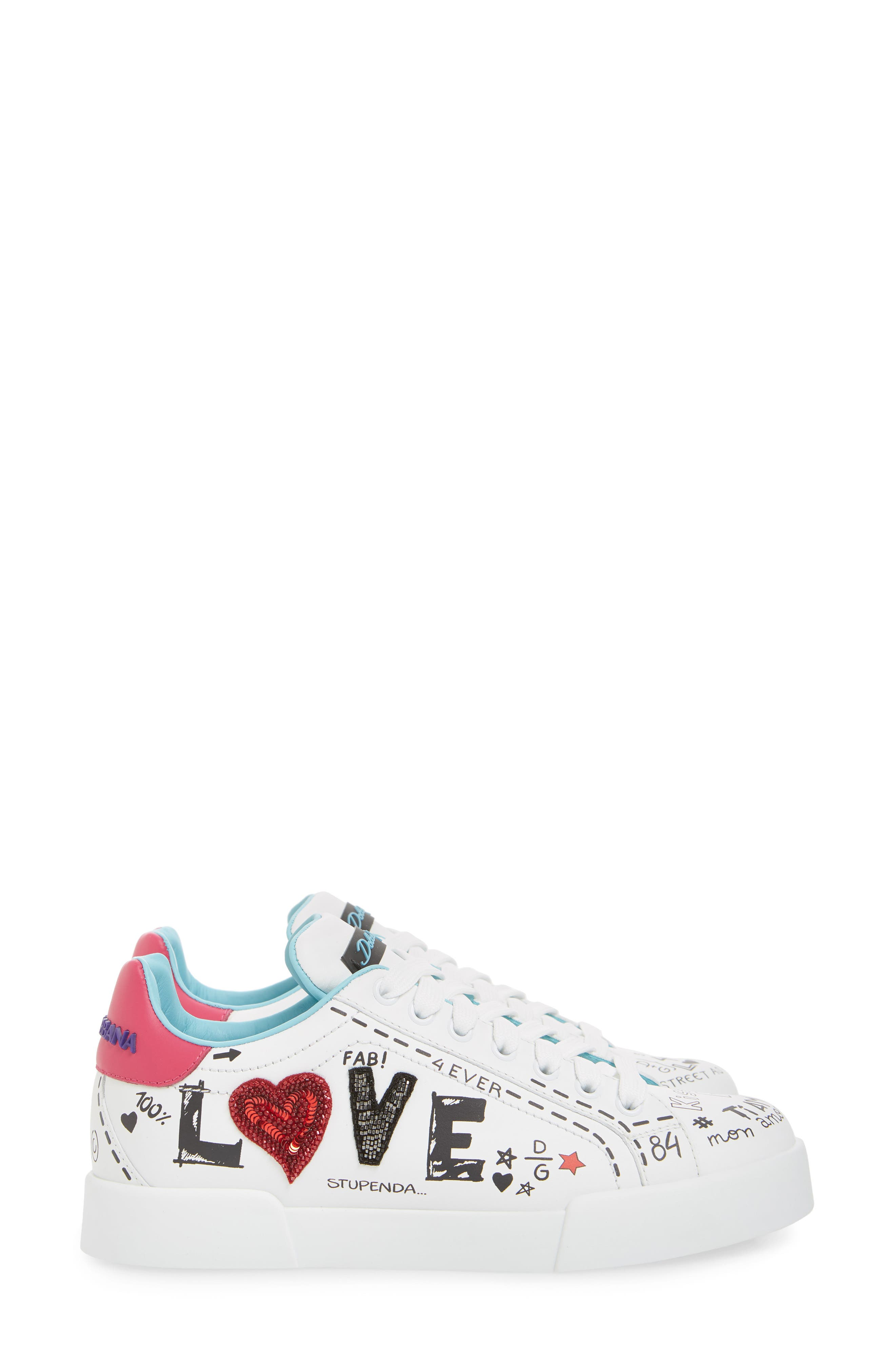 Love Lace-Up Sneaker,                             Alternate thumbnail 4, color,                             WHITE