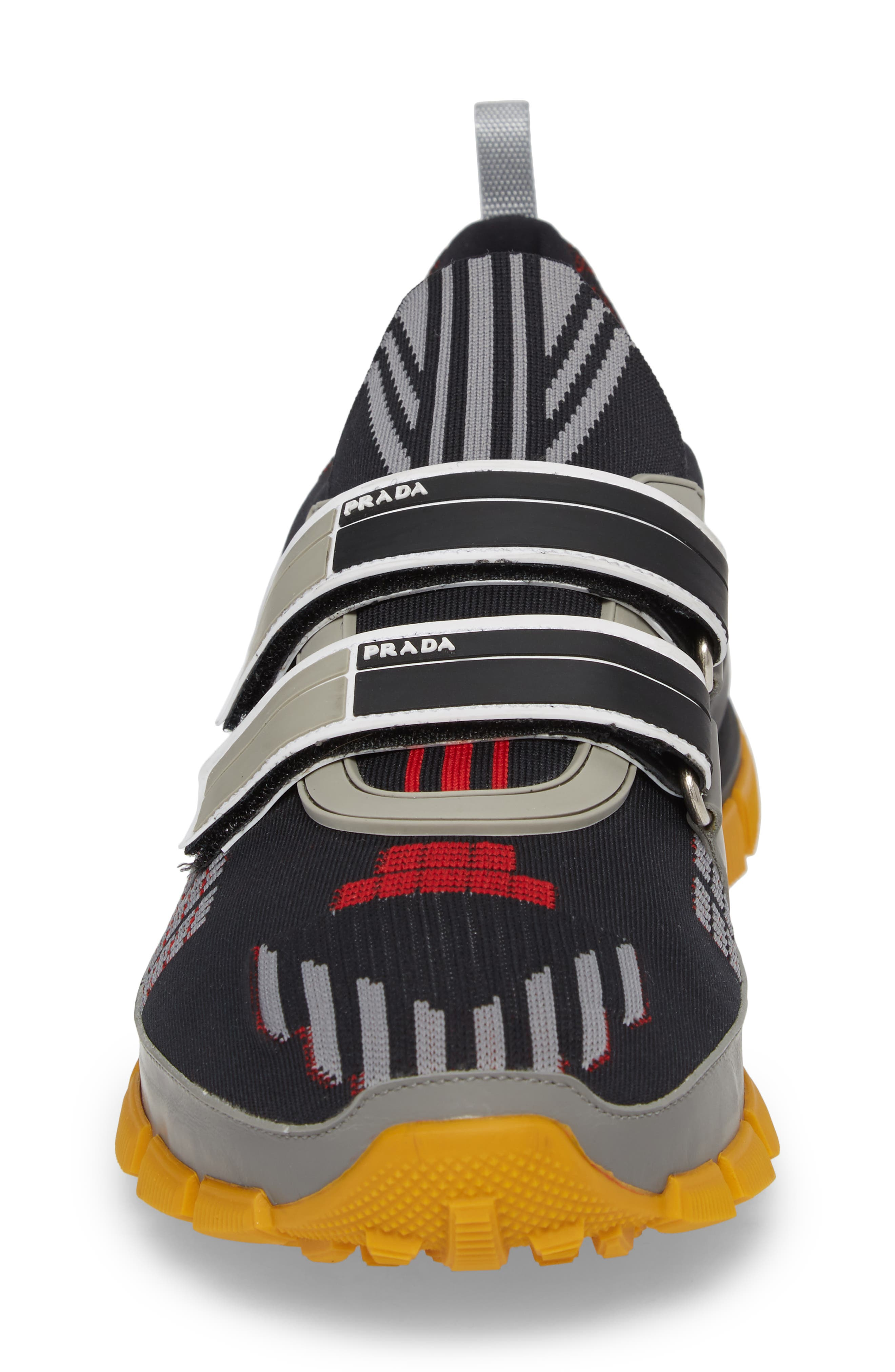 Linea Rossa Strap Sneaker,                             Alternate thumbnail 4, color,                             001