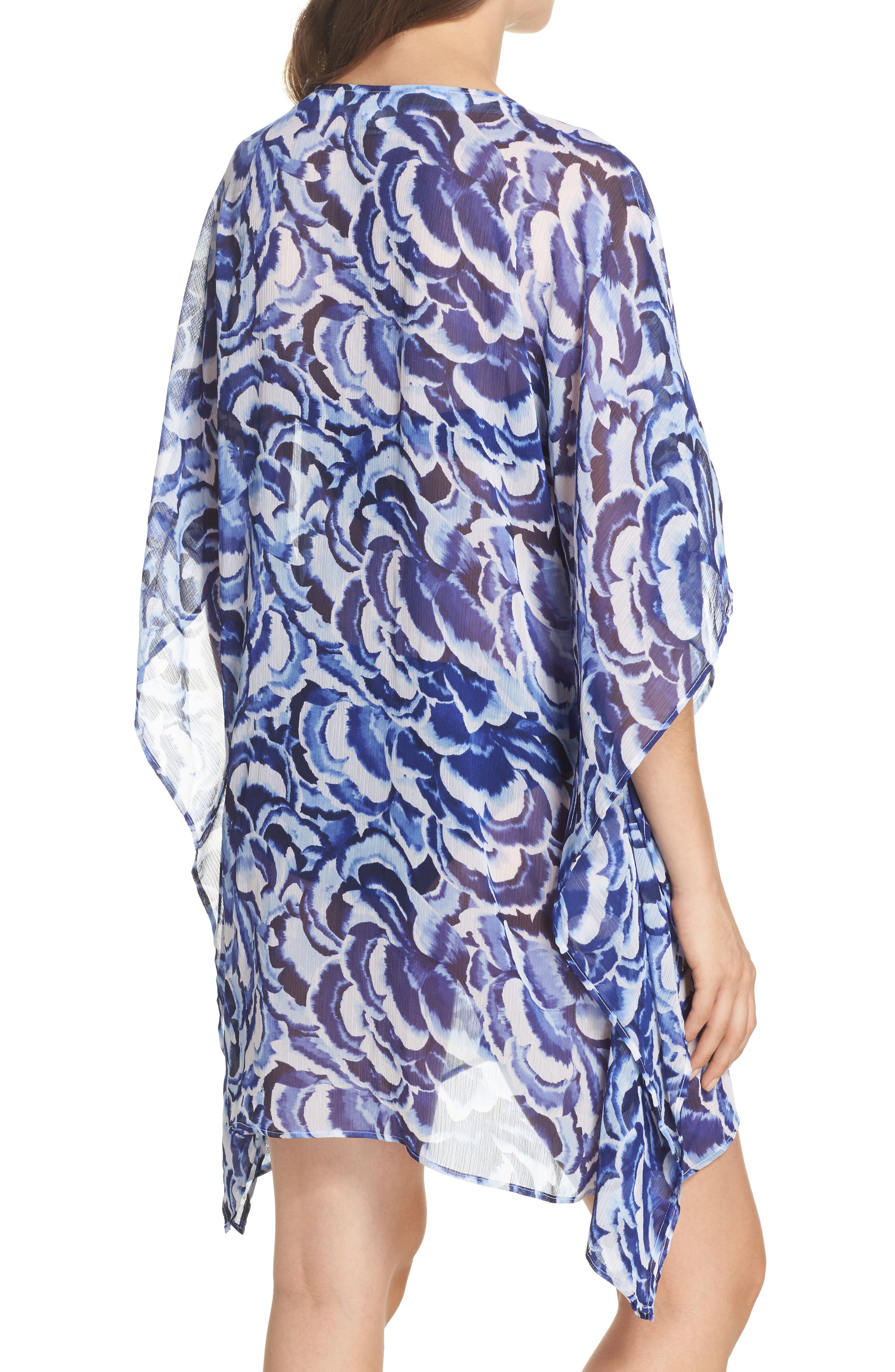 Pansy Petals Tunic Cover Up,                             Alternate thumbnail 2, color,                             100
