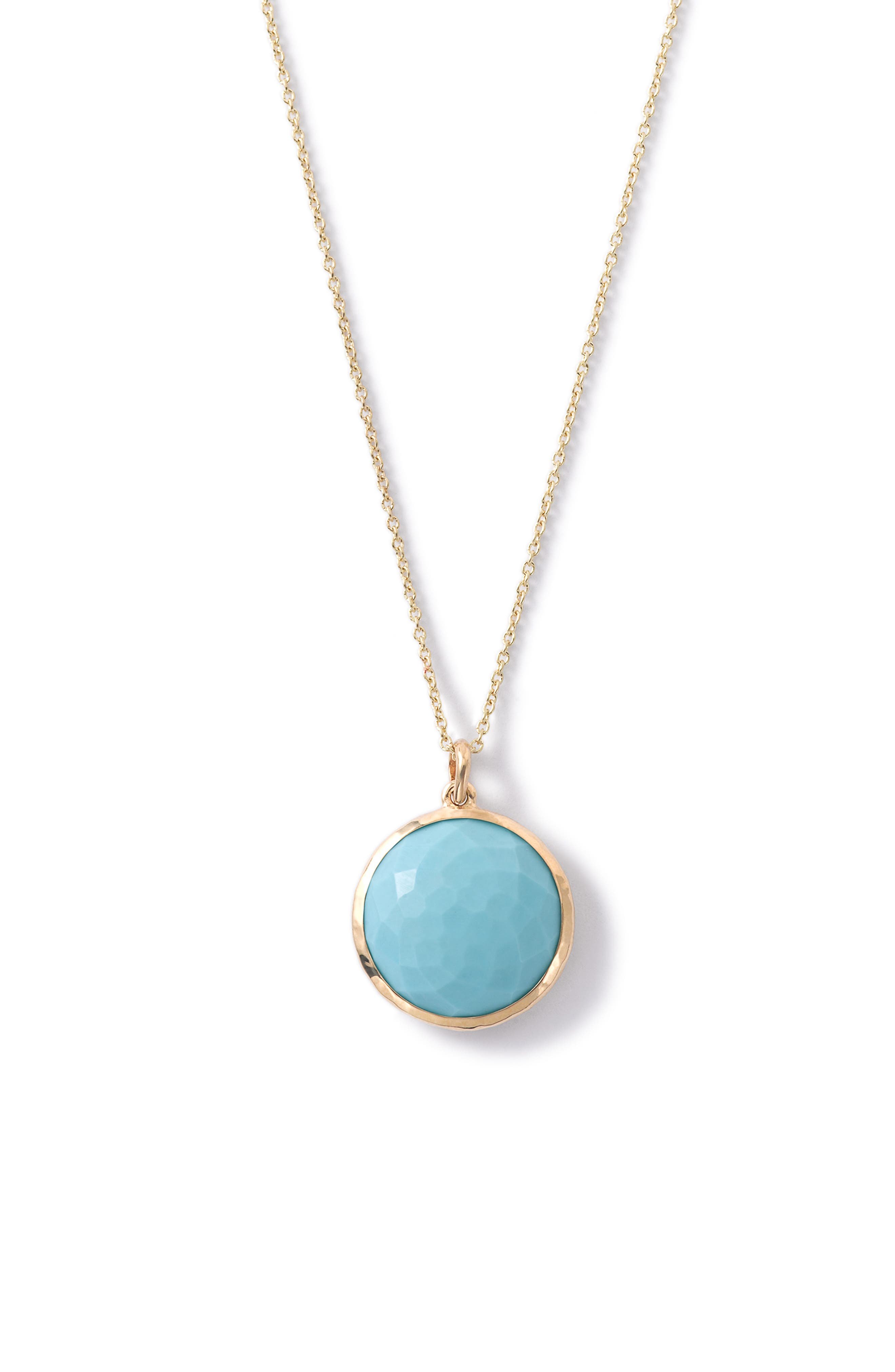 Lollipop Gemstone Pendant Necklace,                             Alternate thumbnail 2, color,                             440