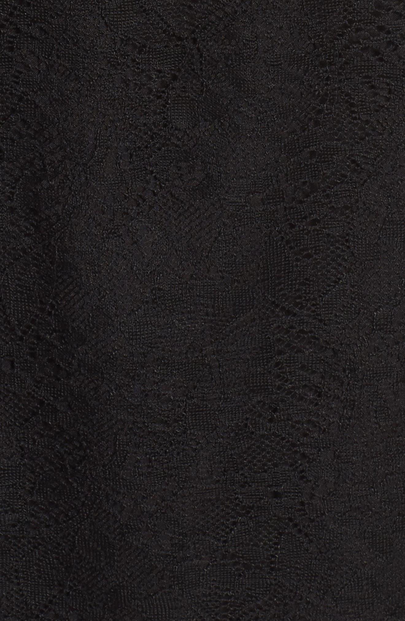 Ruffle Lace Top,                             Alternate thumbnail 5, color,