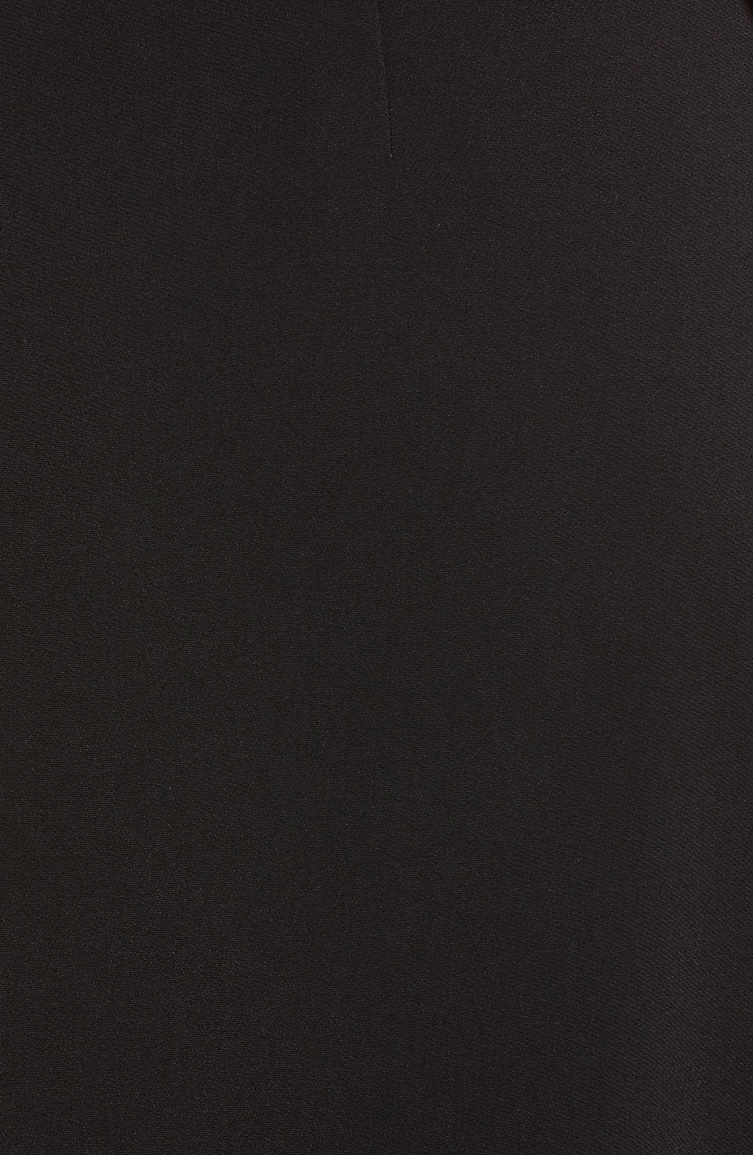 Side Drape Jumper Dress,                             Alternate thumbnail 5, color,                             001