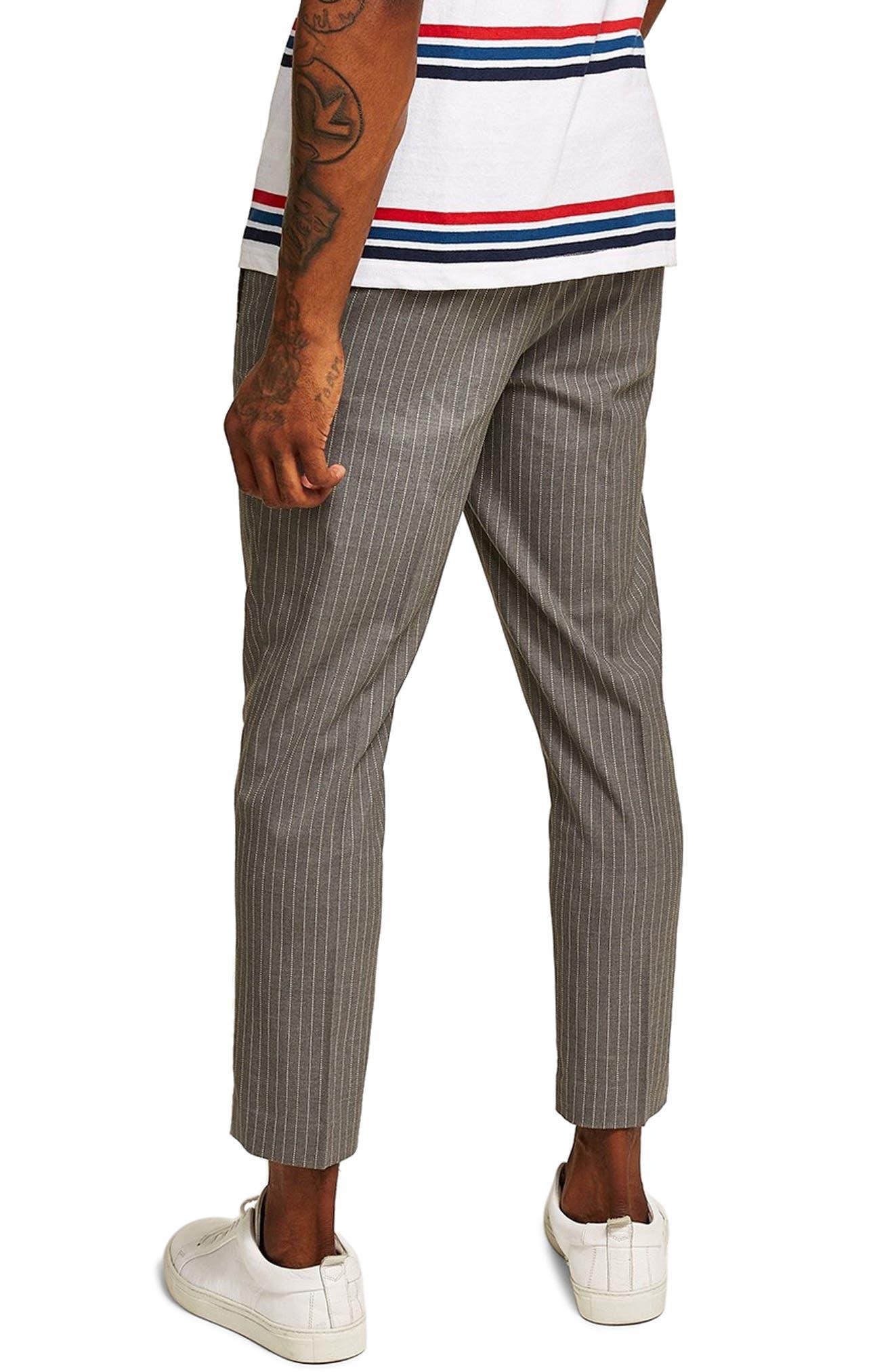 Pinstripe Jogger Pants,                             Alternate thumbnail 2, color,                             GREY