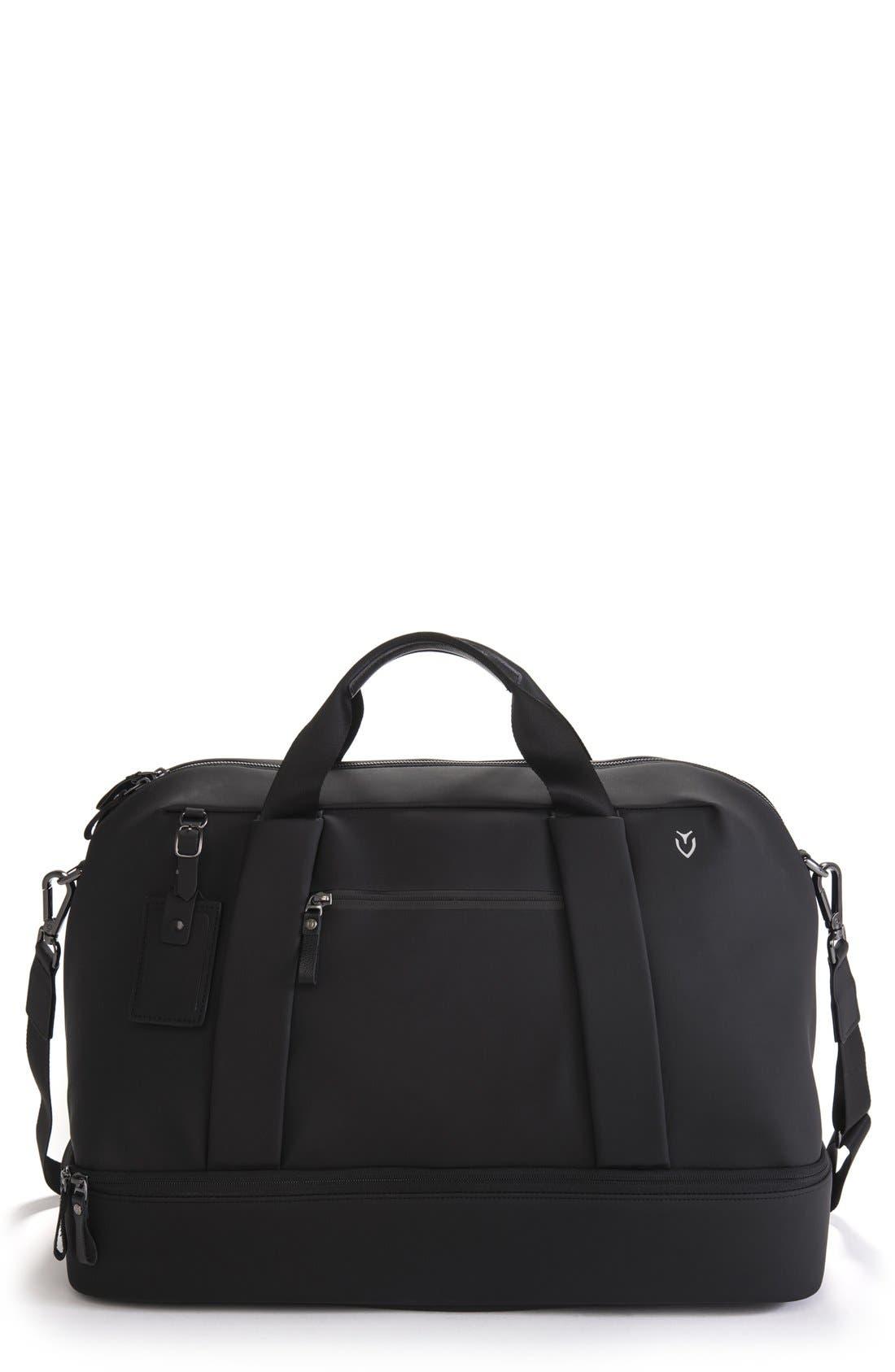 Signature Large Boston Duffel Bag,                             Main thumbnail 1, color,                             MATTE BLACK