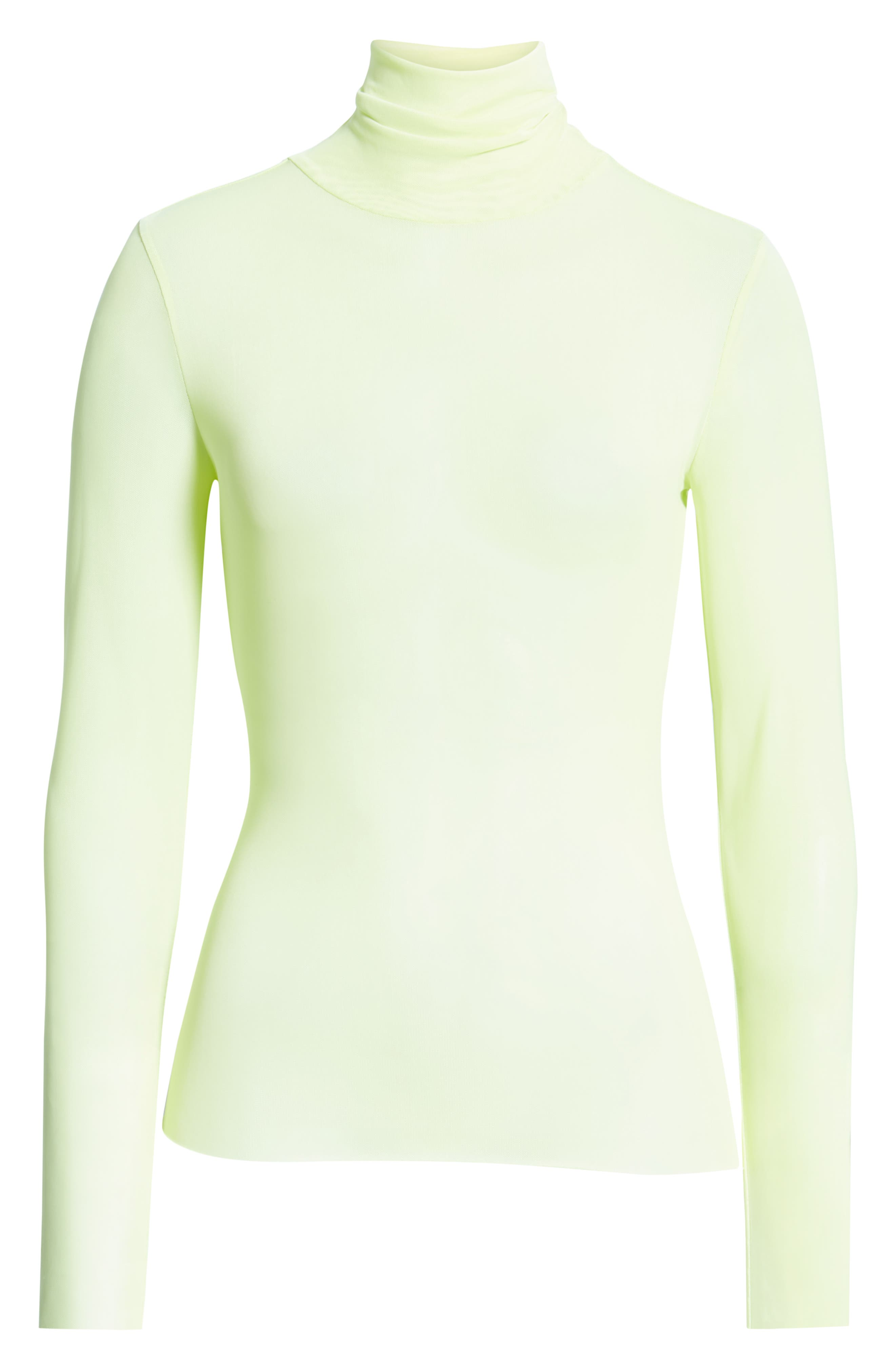 Zadie Semi Sheer Turtleneck,                             Alternate thumbnail 6, color,                             320