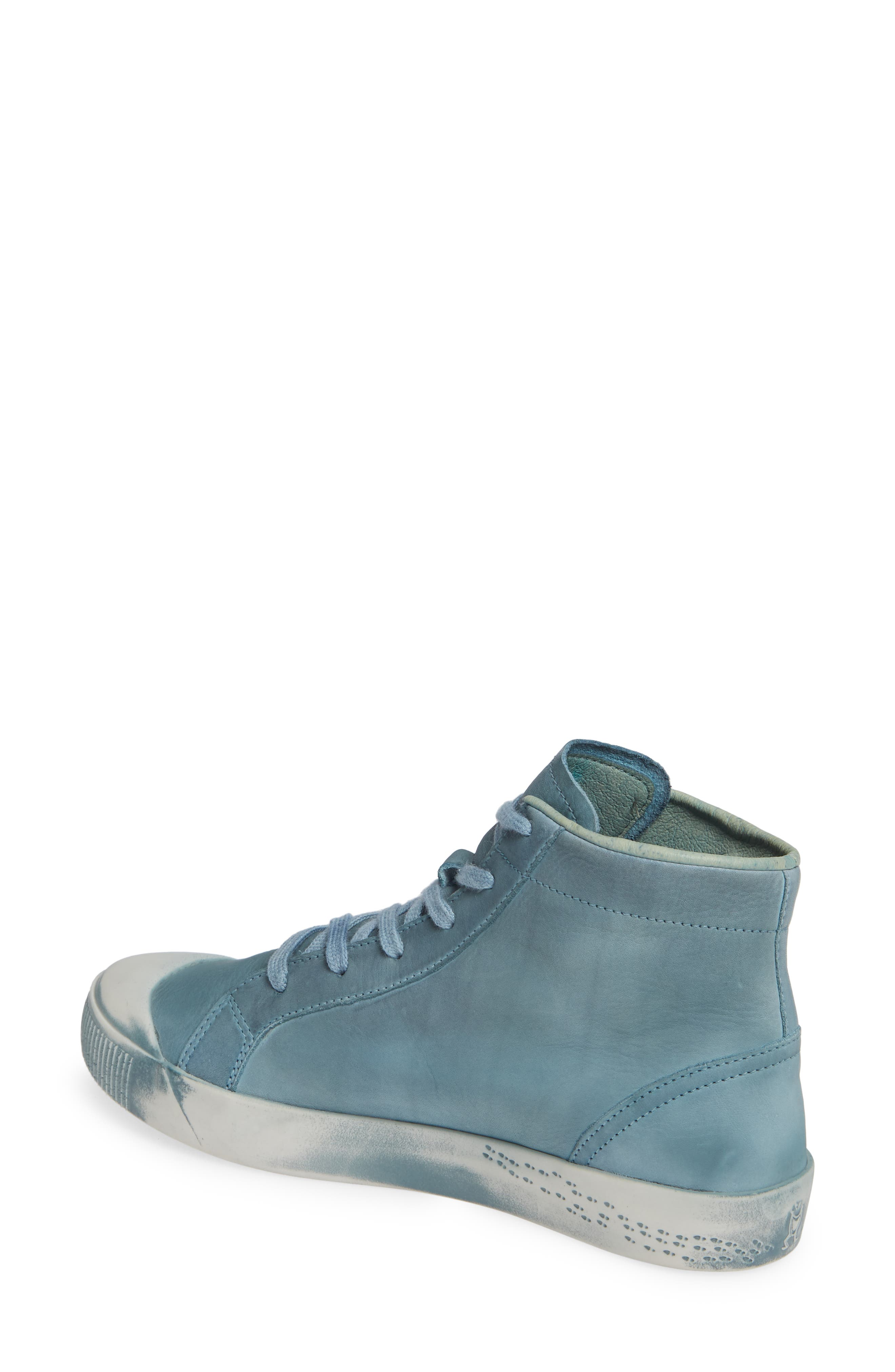 Kip High Top Sneaker,                             Alternate thumbnail 2, color,                             NUDE BLUE WASHED LEATHER