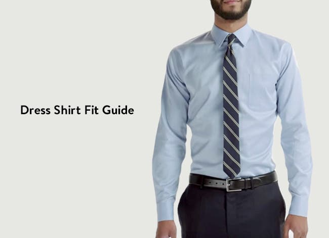 Dress shirt fit guide.