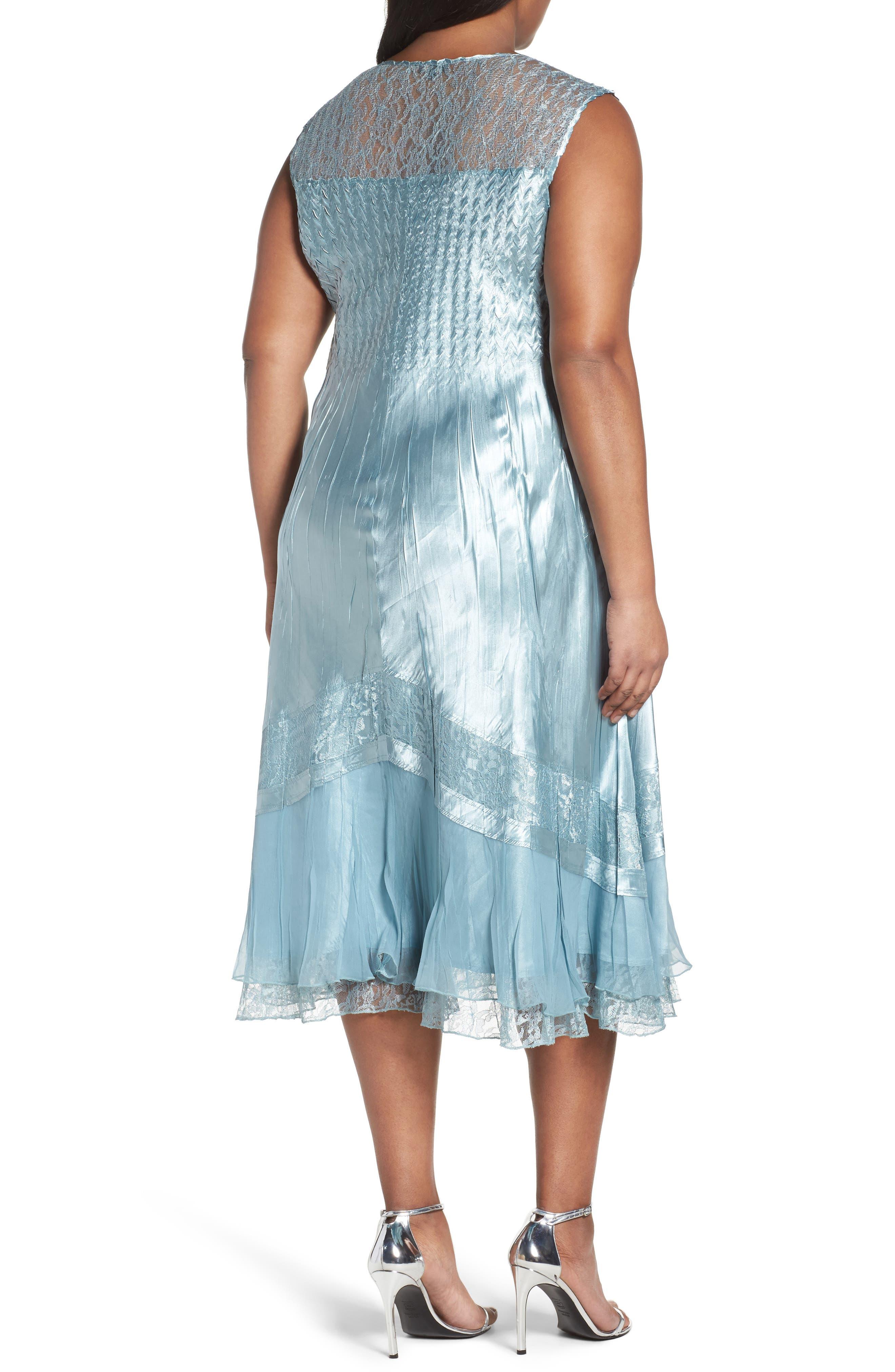 Lace Trim Jacket Dress,                             Alternate thumbnail 4, color,                             439