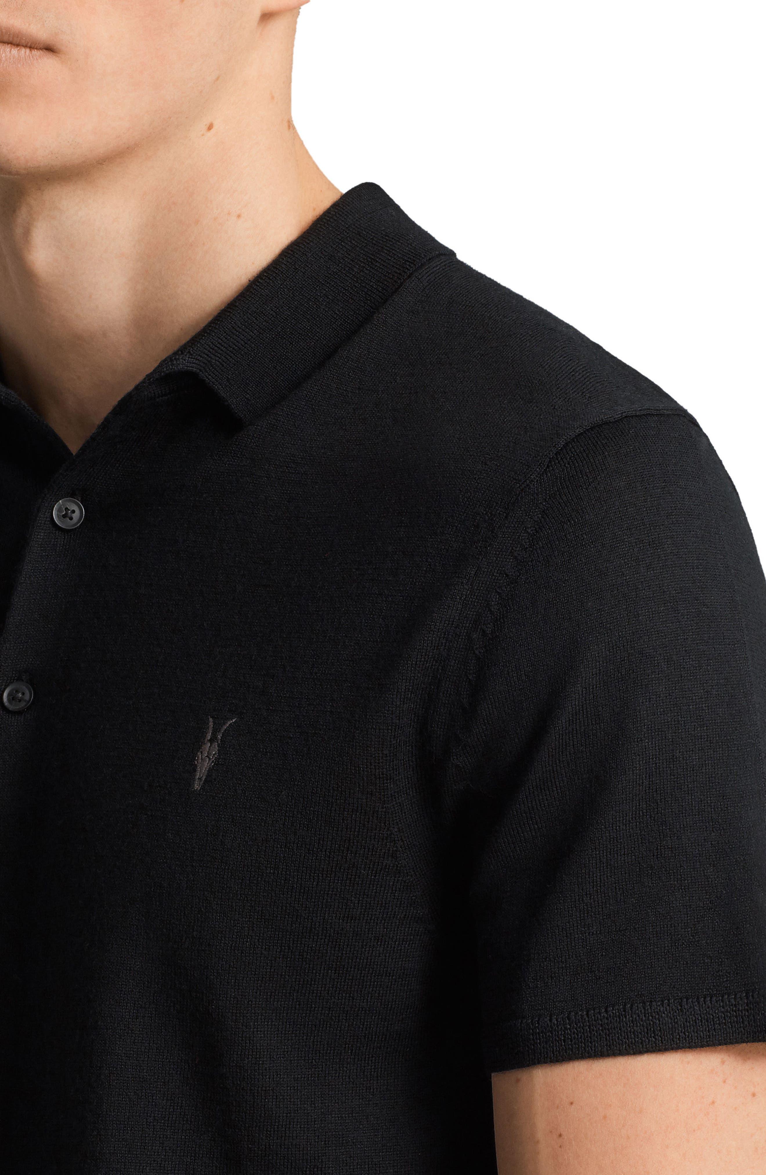 Mode Slim Fit Merino Wool Polo,                             Alternate thumbnail 7, color,