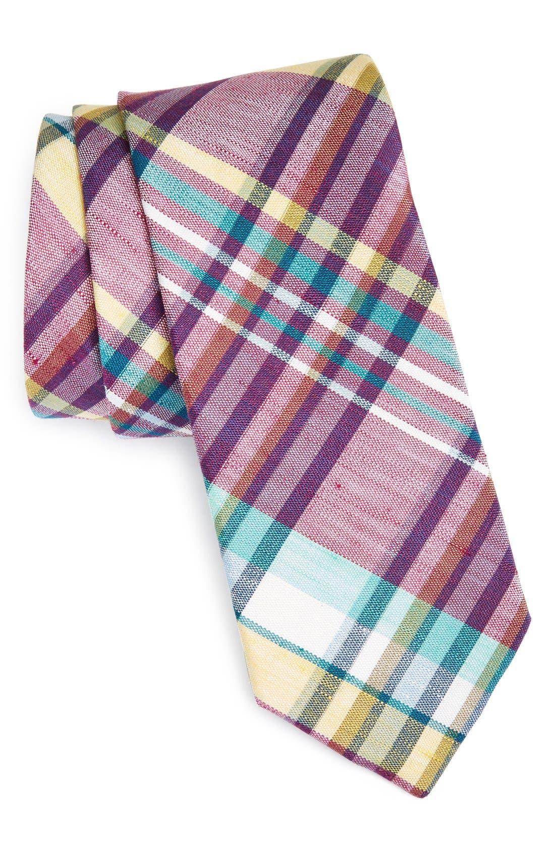 Woven Linen & Silk Tie,                             Main thumbnail 2, color,