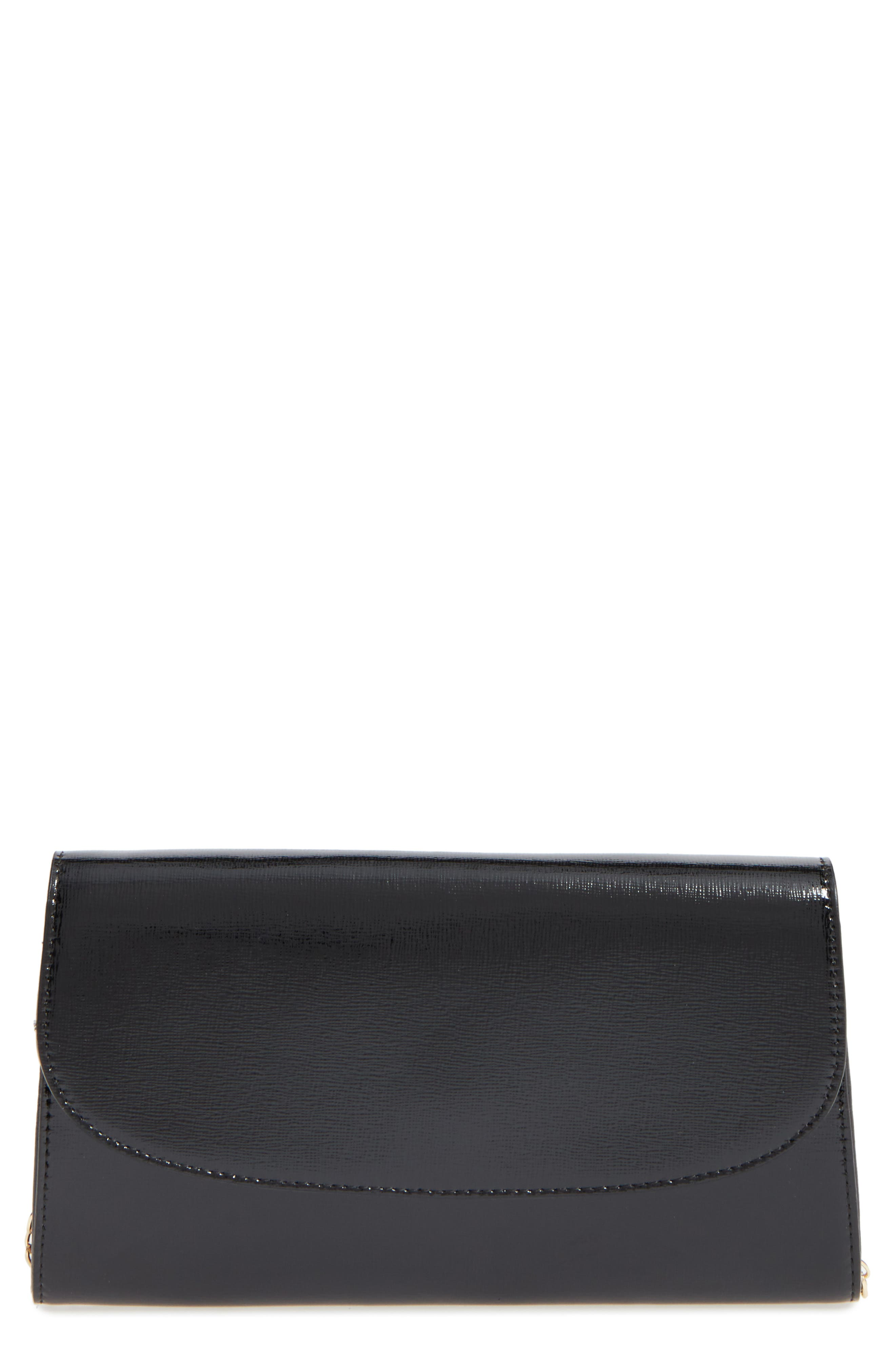 Leather Clutch,                             Alternate thumbnail 7, color,