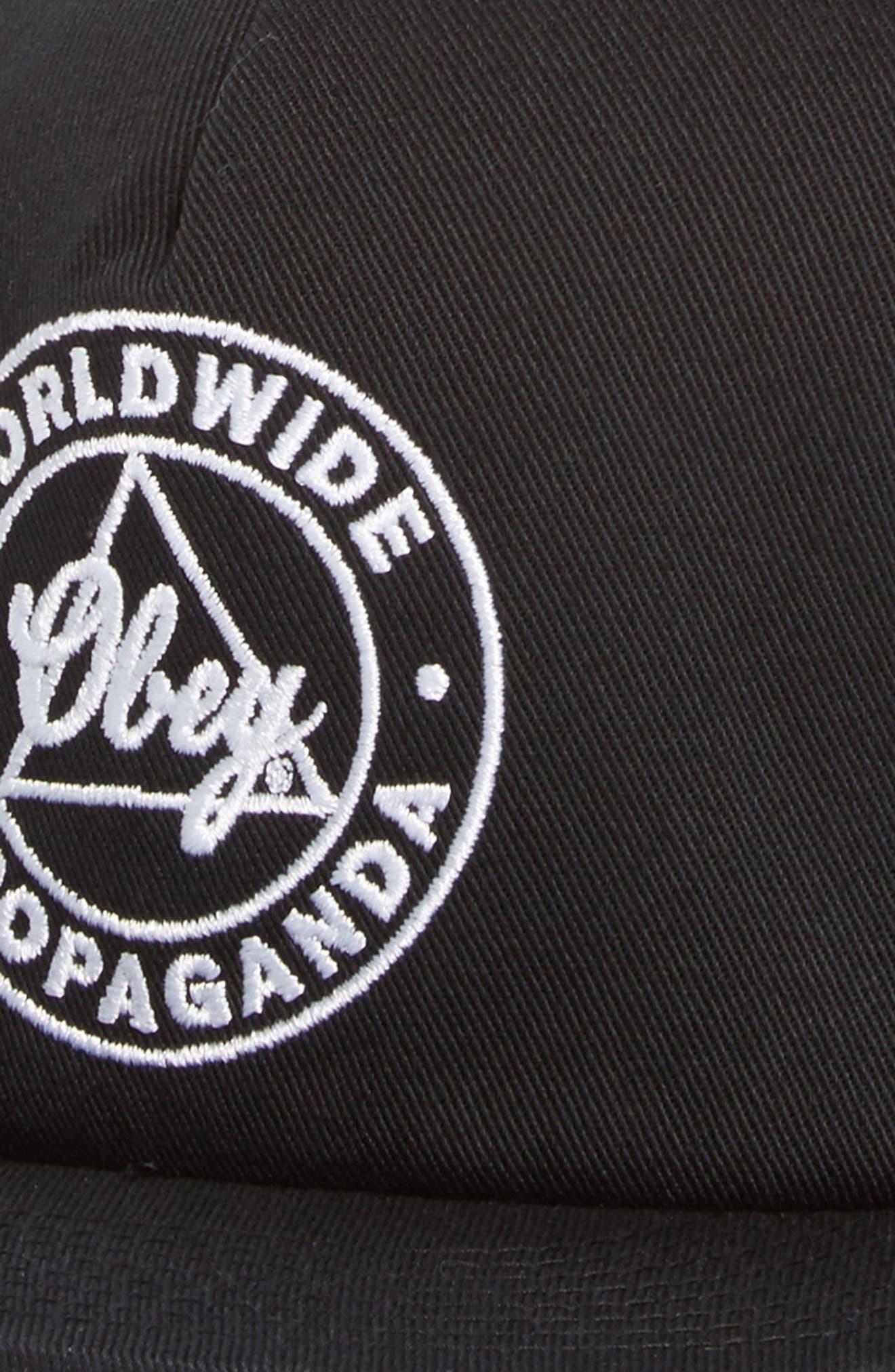 Worldwide Propaganda II Snapback Cap,                             Alternate thumbnail 3, color,                             BLACK