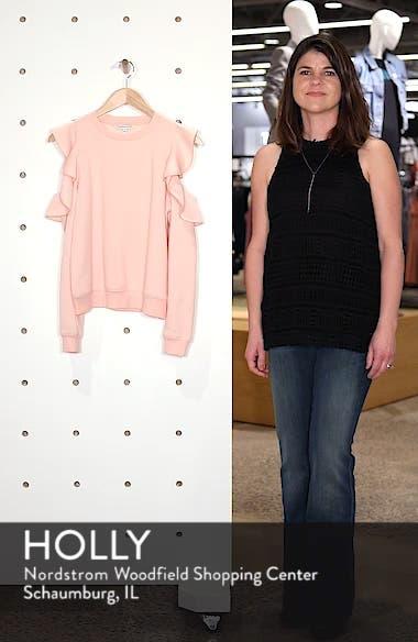 Gracie Cold Shoulder Sweatshirt, sales video thumbnail