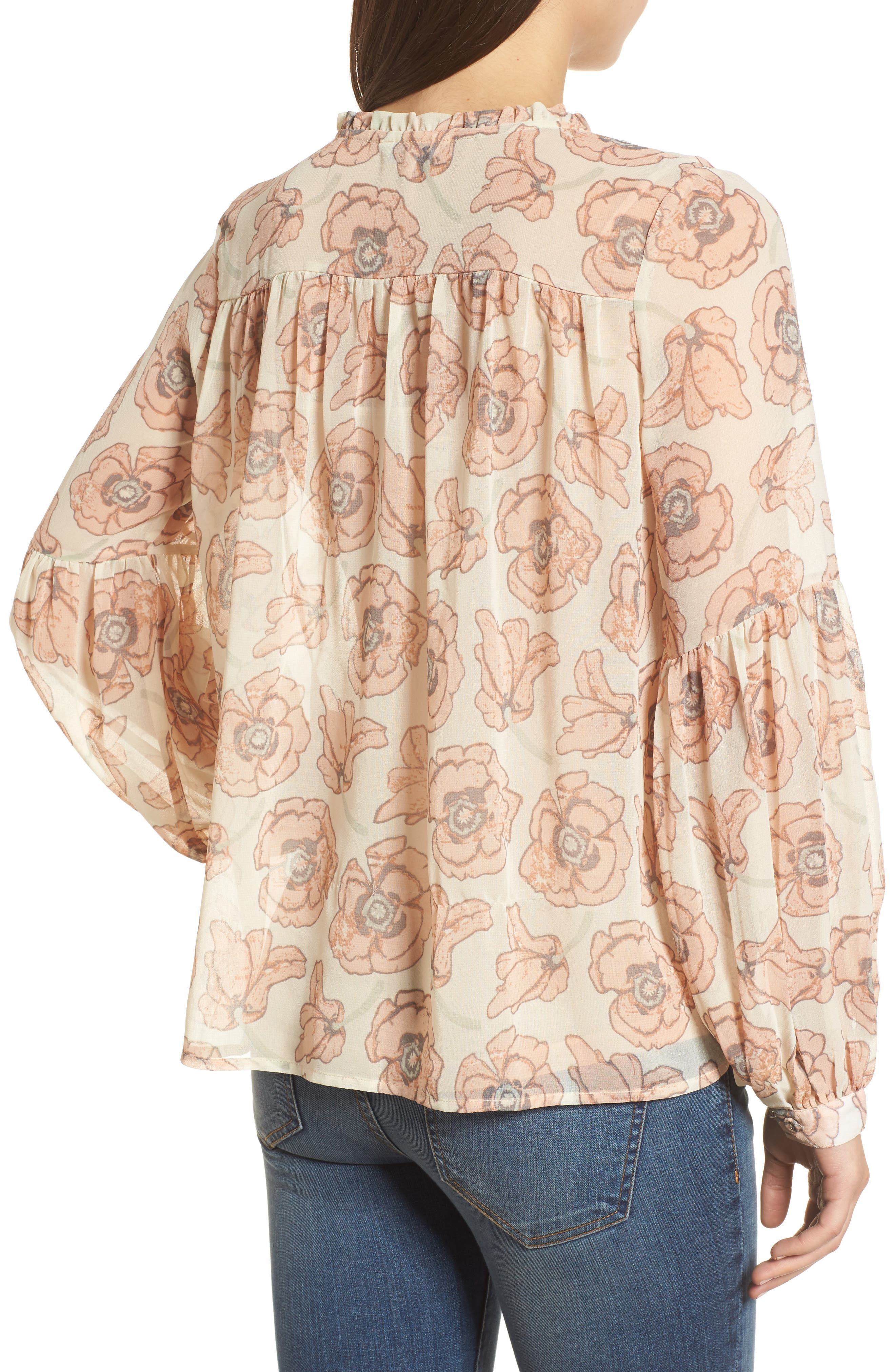 Exploded Floral Top,                             Alternate thumbnail 2, color,                             690