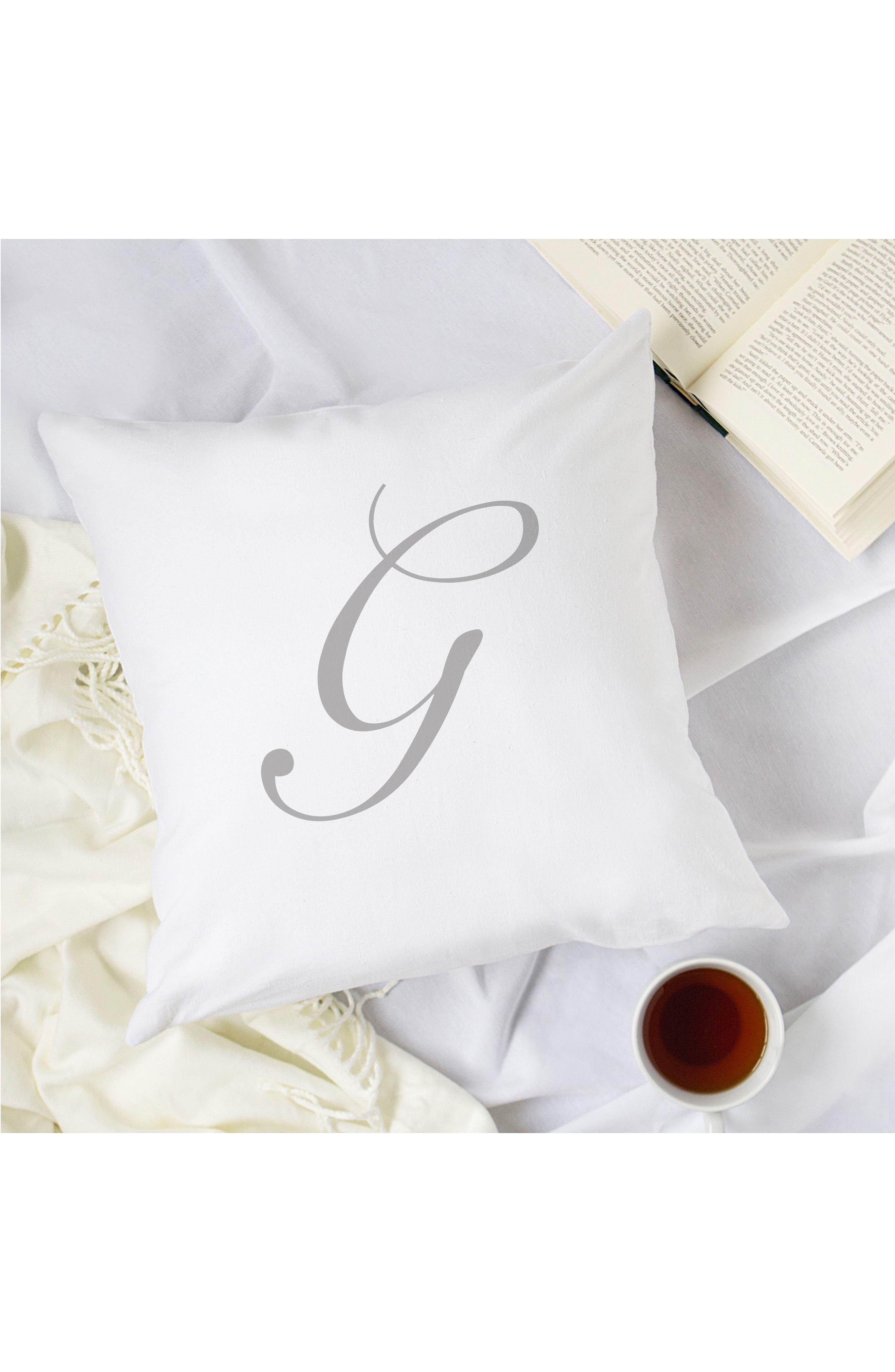 Script Monogram Accent Pillow,                             Alternate thumbnail 29, color,