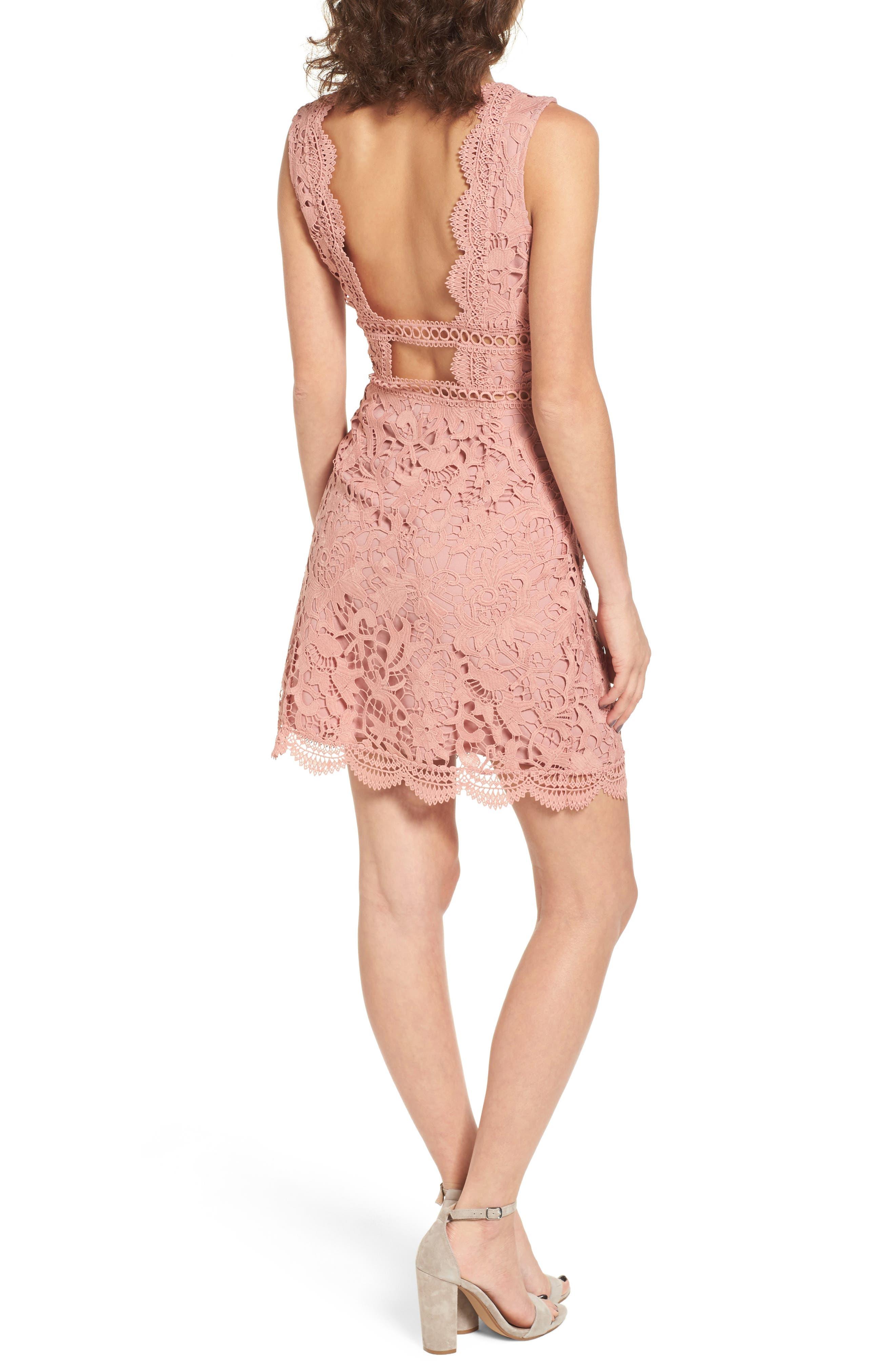 Lace Minidress,                             Alternate thumbnail 2, color,