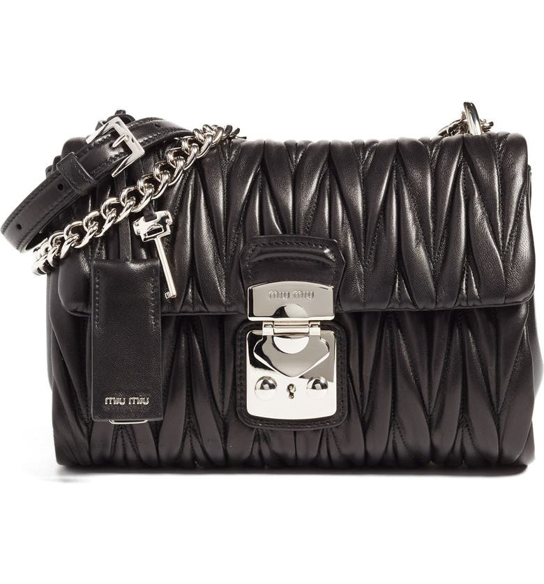 Miu Miu Matelassé Nappa Leather Shoulder Crossbody Bag  d443a1e733dfc