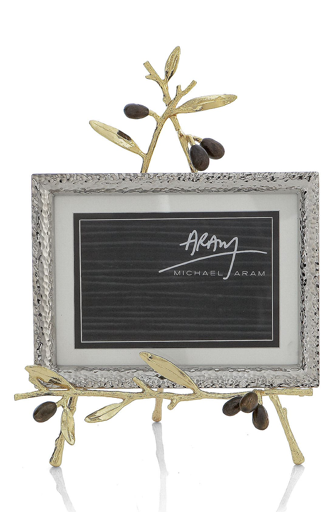 Olive Branch Easel Picture Frame,                             Main thumbnail 1, color,                             GOLD