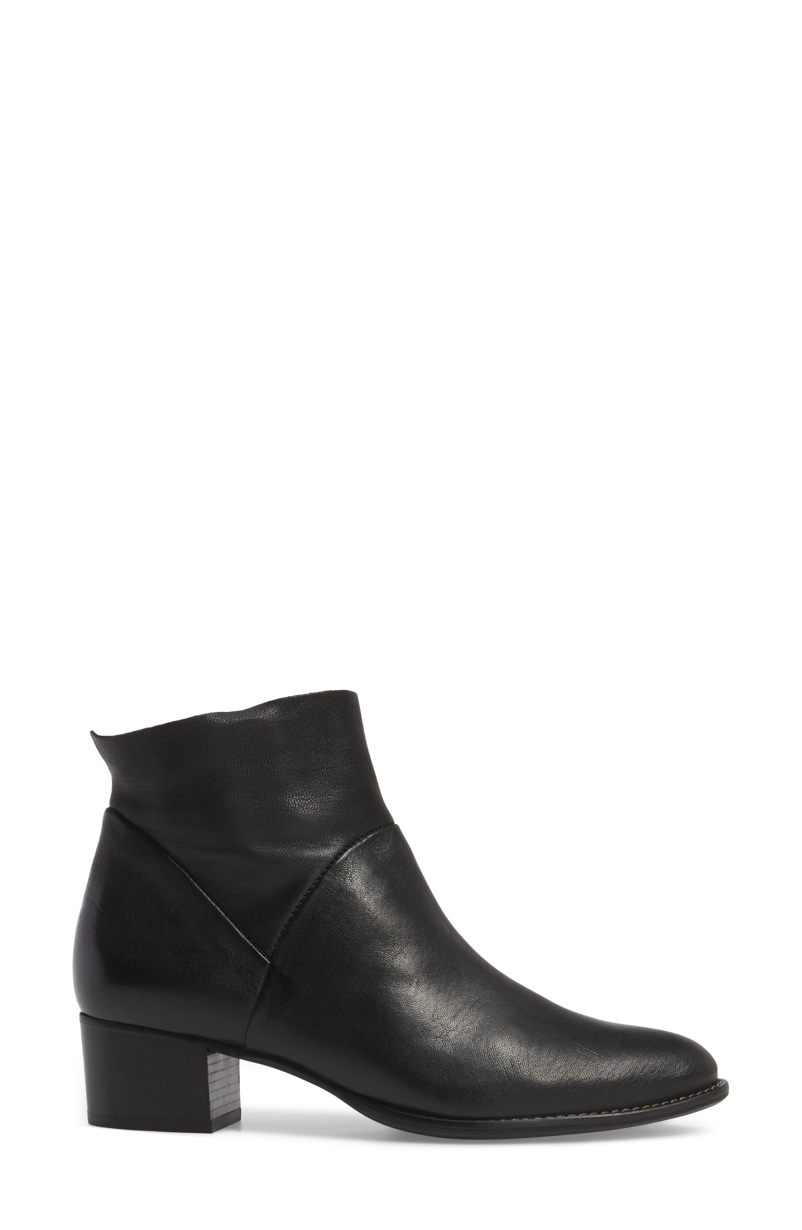 Nelly Bootie,                             Alternate thumbnail 3, color,                             BLACK LEATHER