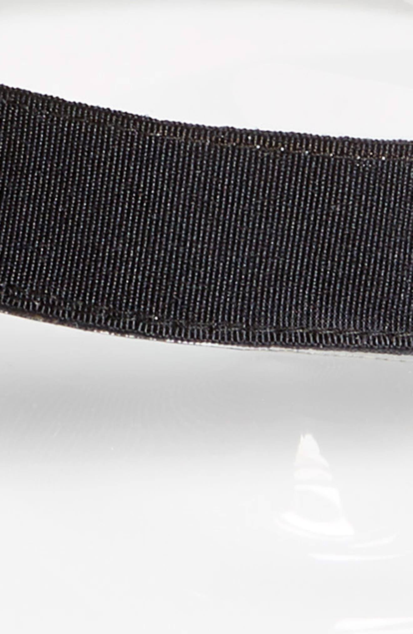 Clear Boater Hat,                             Alternate thumbnail 2, color,                             BLACK