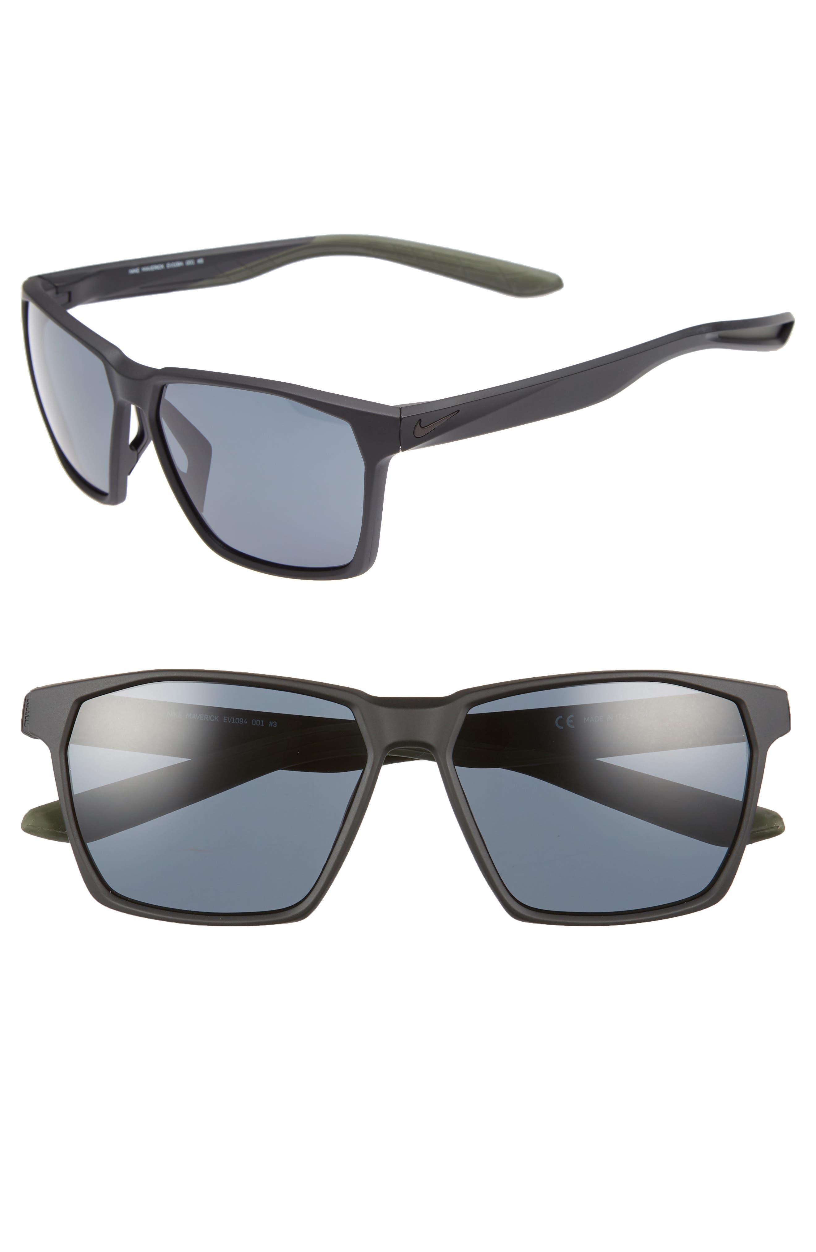 Maverick 59mm Sunglasses,                         Main,                         color, MATTE BLACK/ GREY