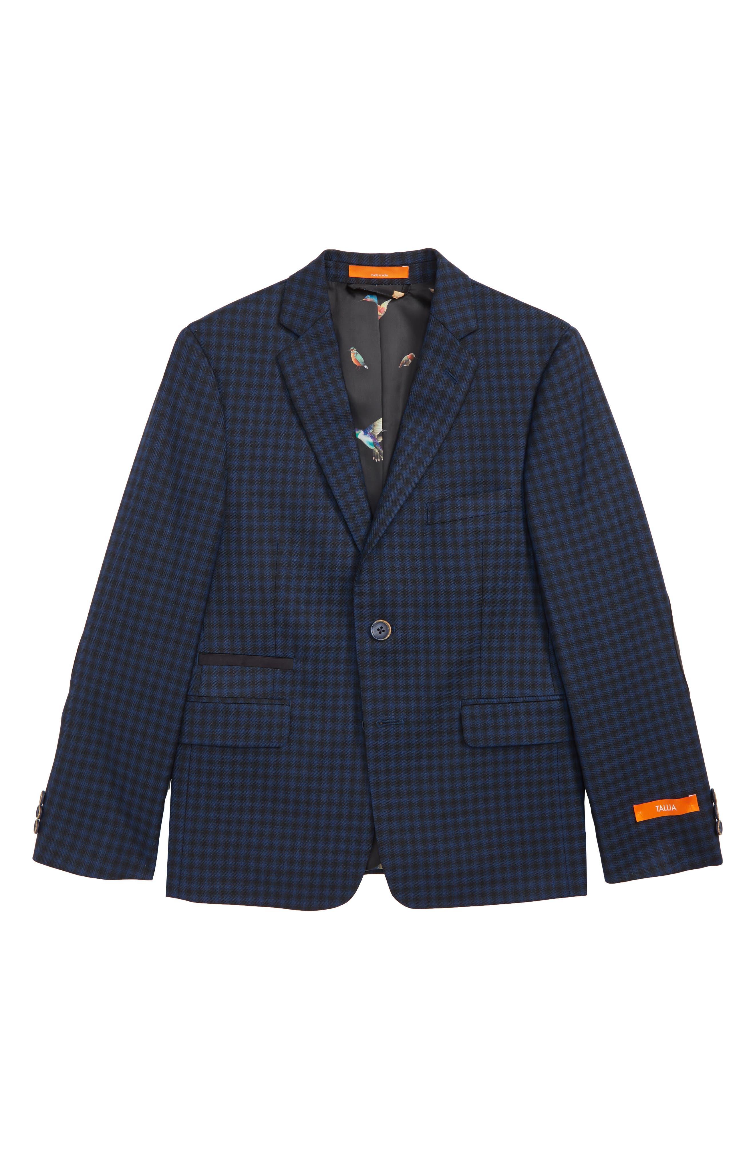 Check Sport Coat,                         Main,                         color, NAVY/ BLACK