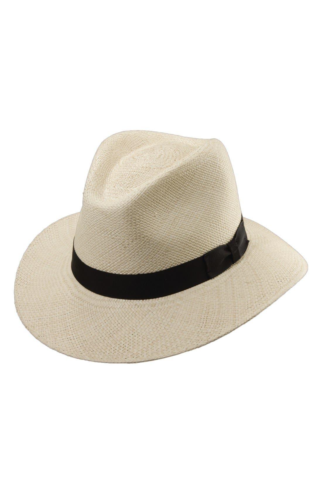 Panama Straw Safari Hat,                         Main,                         color, NATURAL