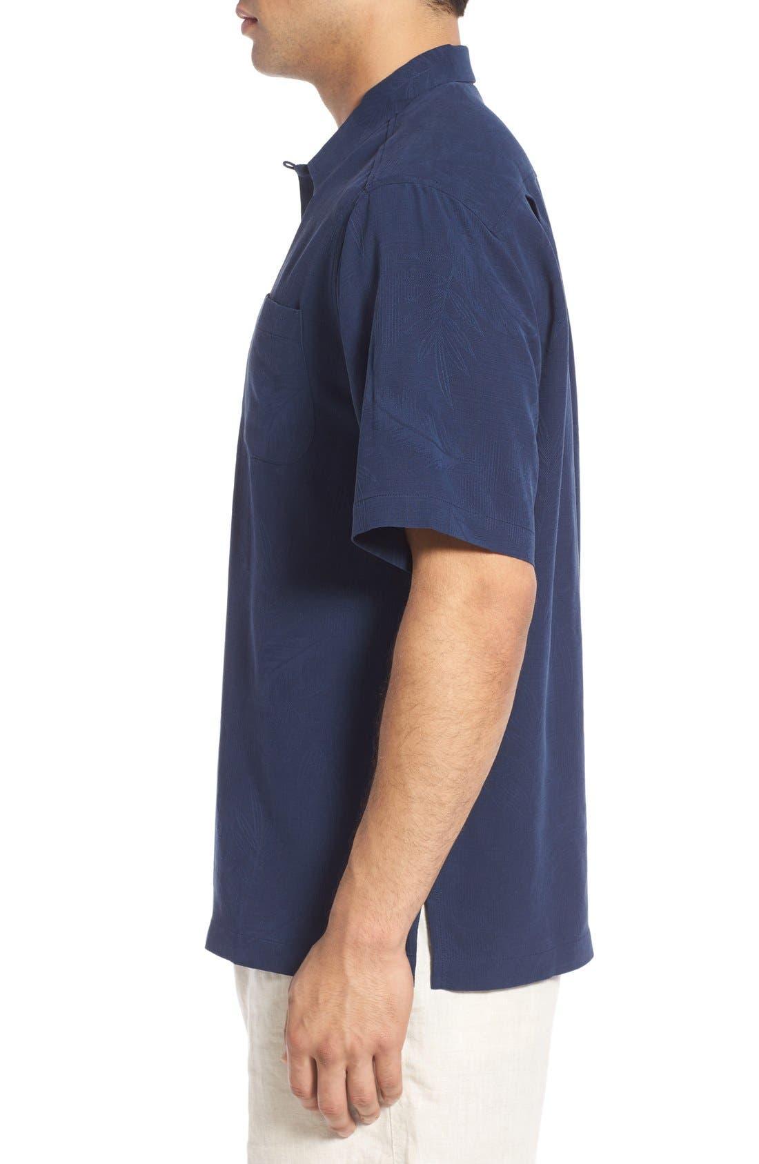 Rio Fronds Short Sleeve Silk Sport Shirt,                             Alternate thumbnail 40, color,