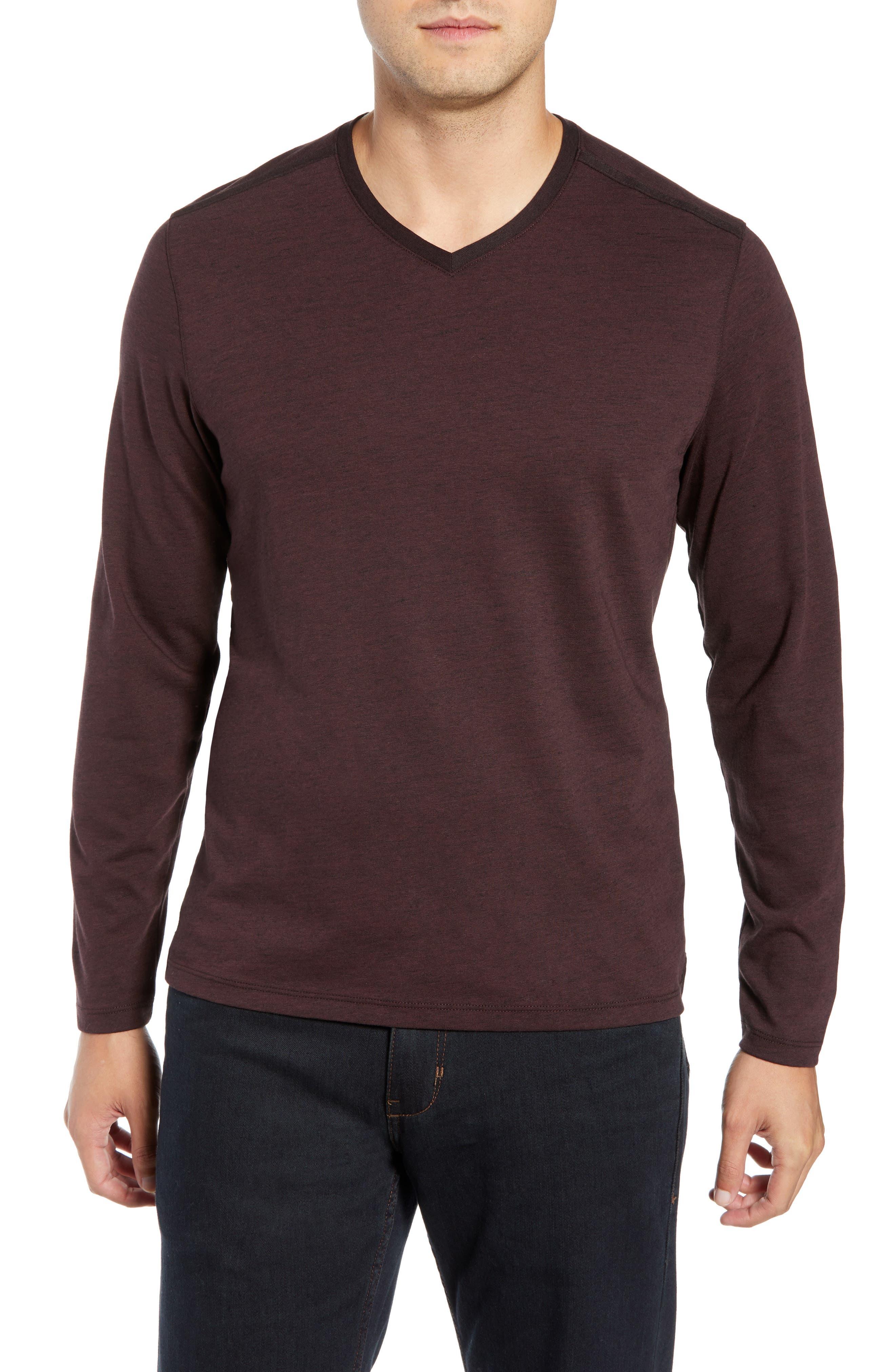 Flatrock Regular Fit V-Neck T-Shirt, Main, color, PORT