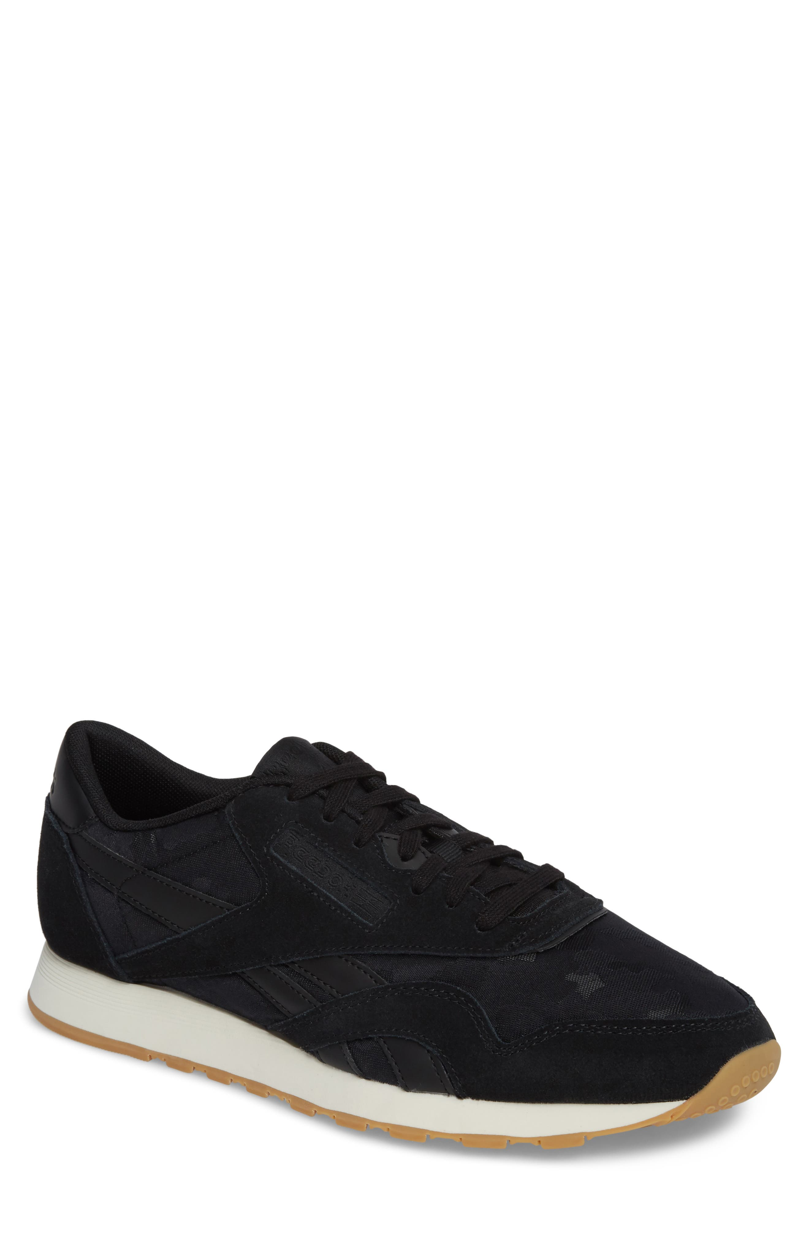 Classic Leather Nylon SG Sneaker,                         Main,                         color, 001