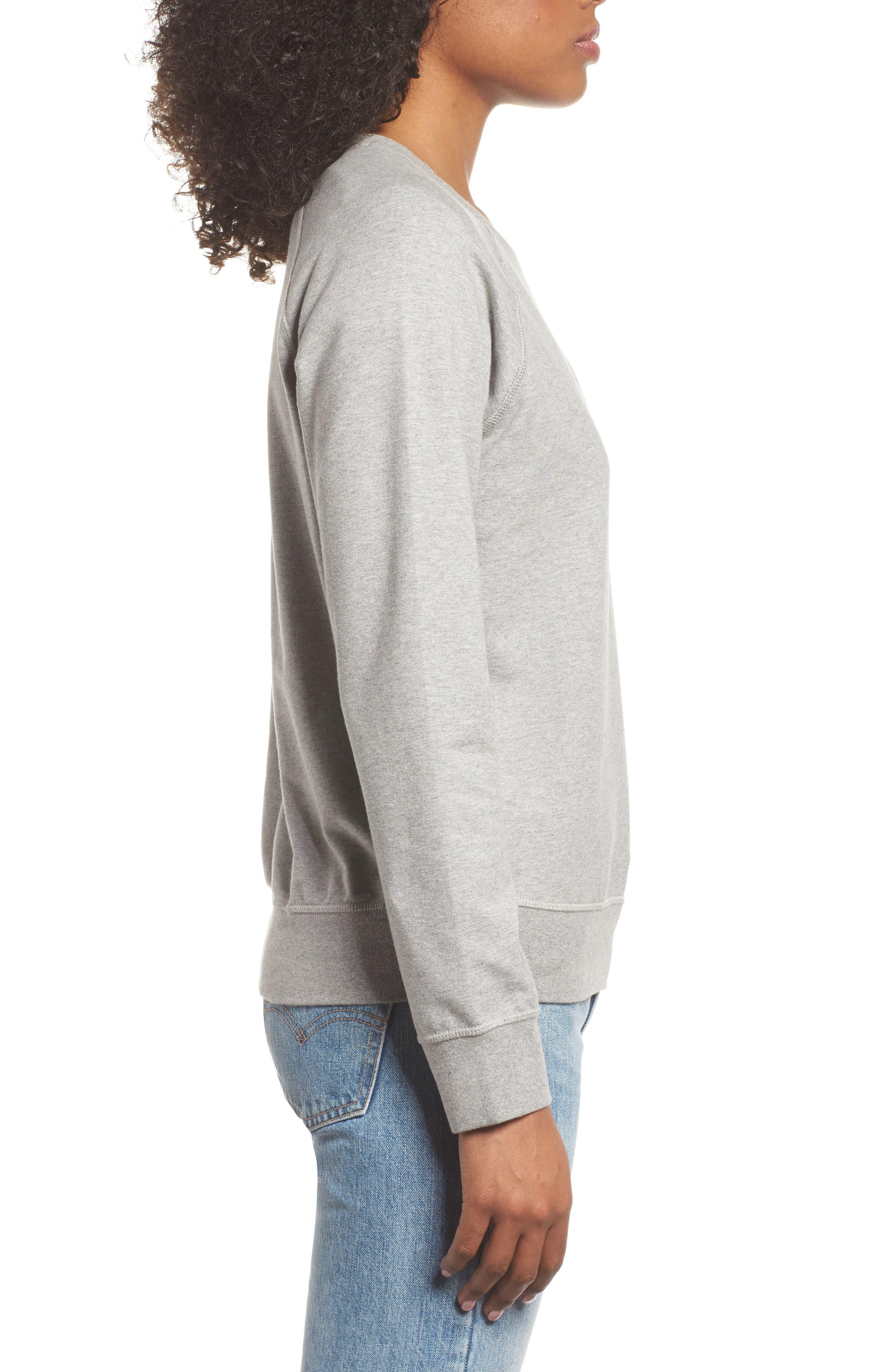 Pastel P-6 Label Midweight Sweatshirt,                             Alternate thumbnail 3, color,                             020