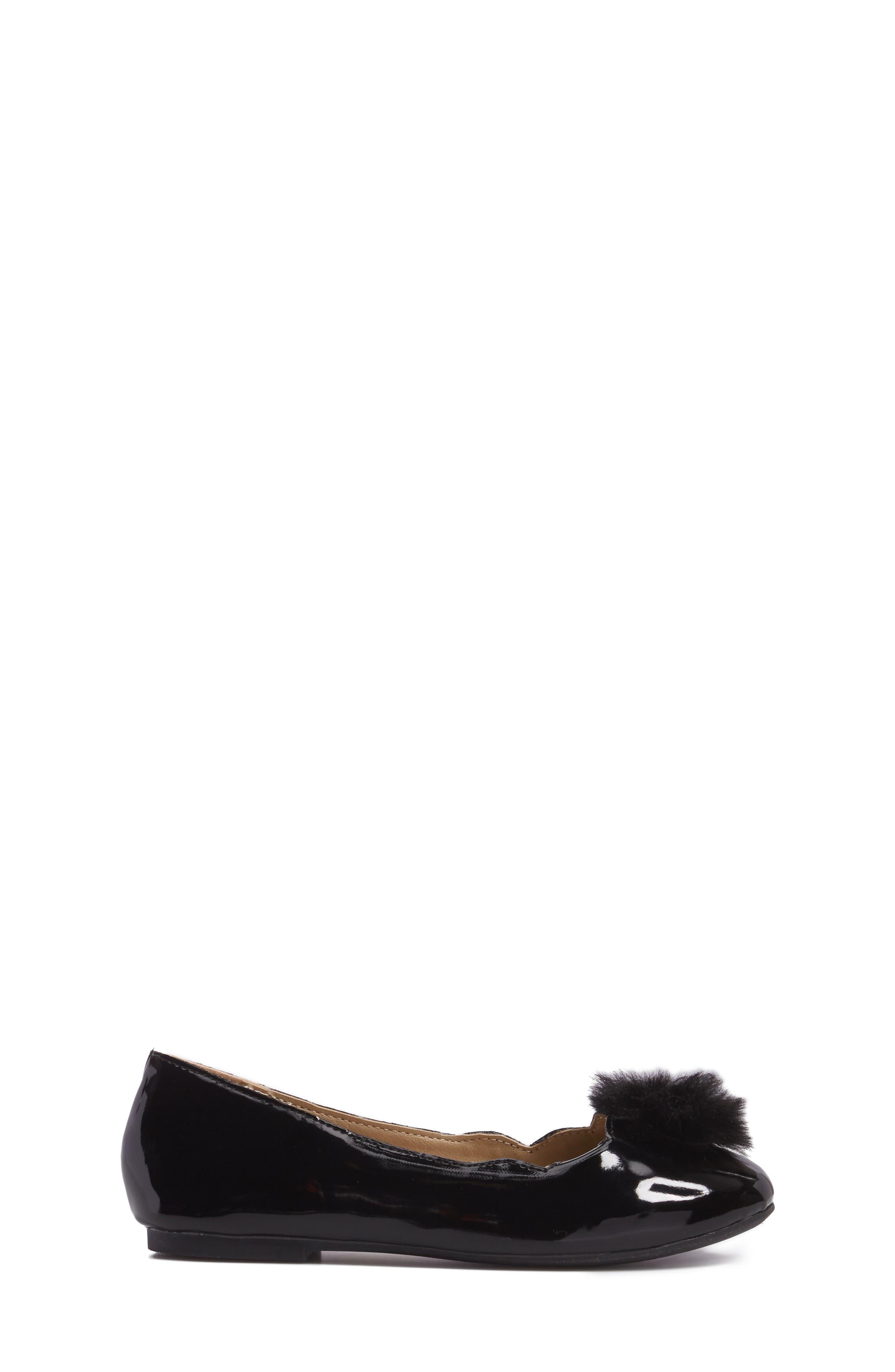 Felicia Anna Faux Fur Pom Flat,                             Alternate thumbnail 8, color,