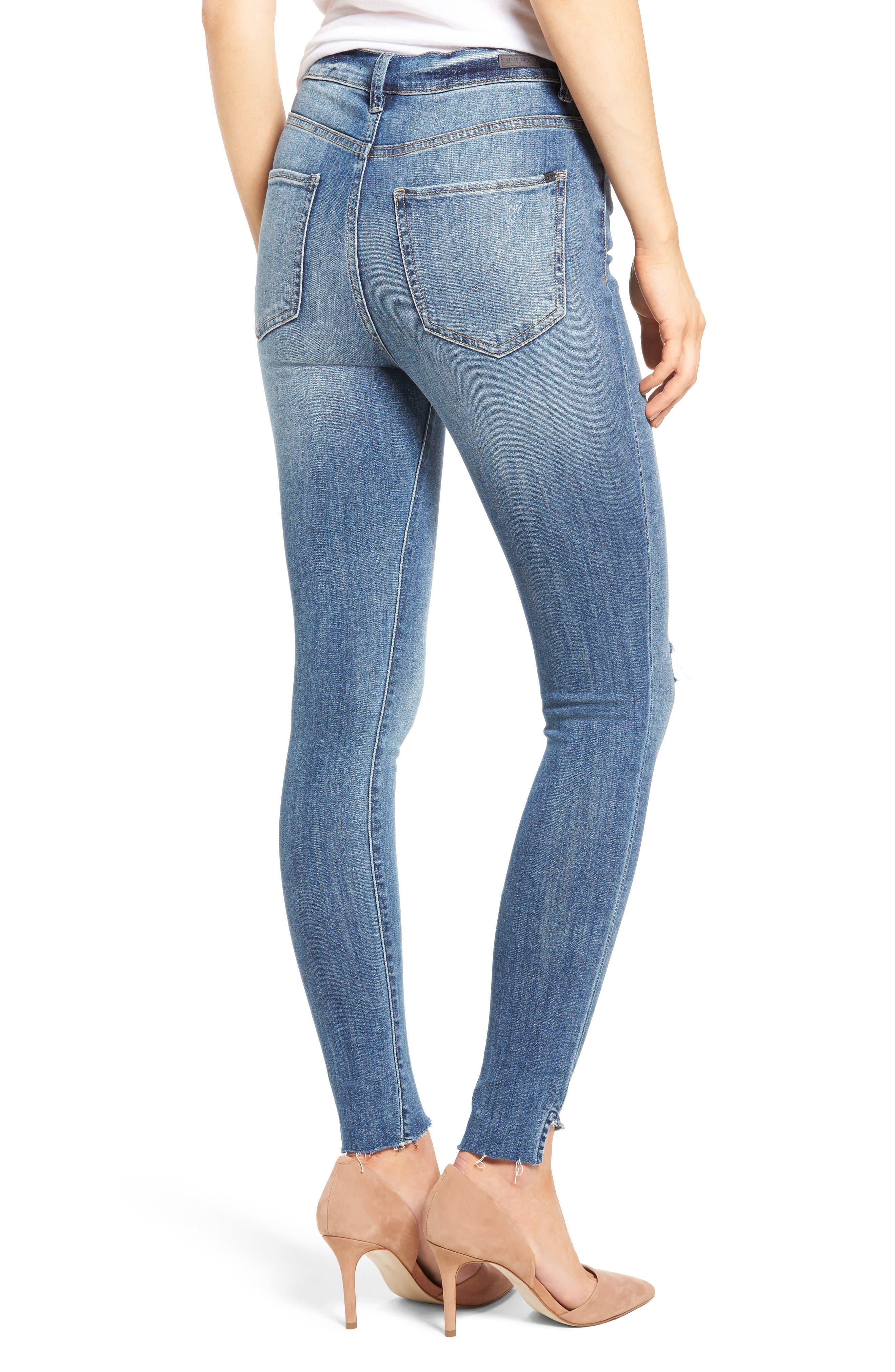 Decon Raw Edge High Waist Skinny Jeans,                             Alternate thumbnail 2, color,                             420