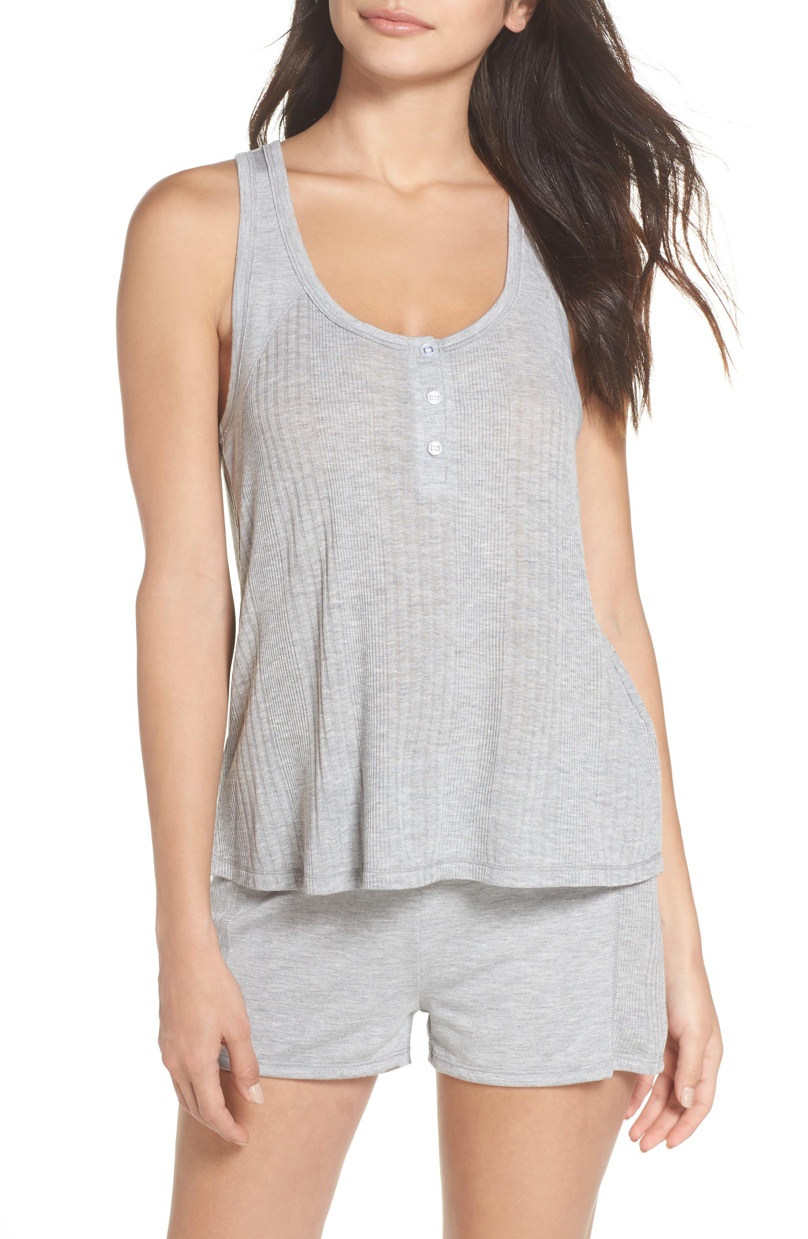 Pajama Shorts,                             Alternate thumbnail 7, color,                             LIGHT HEATHER GREY