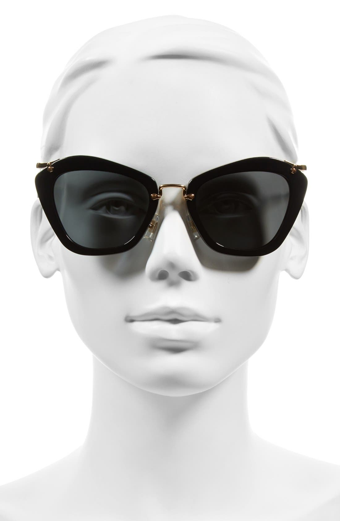 Noir 55mm Cat Eye Sunglasses,                             Alternate thumbnail 8, color,