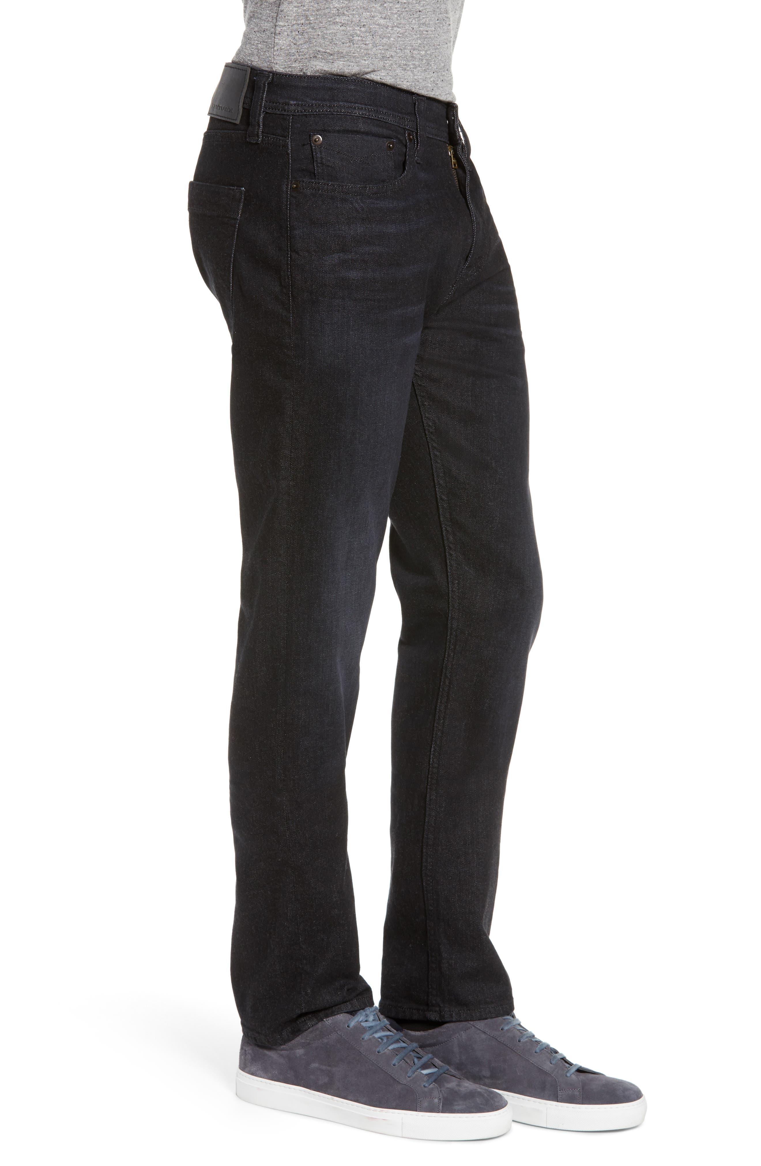 REVTOWN,                             Sharp Slim Fit Jeans,                             Alternate thumbnail 3, color,                             COAL BLACK