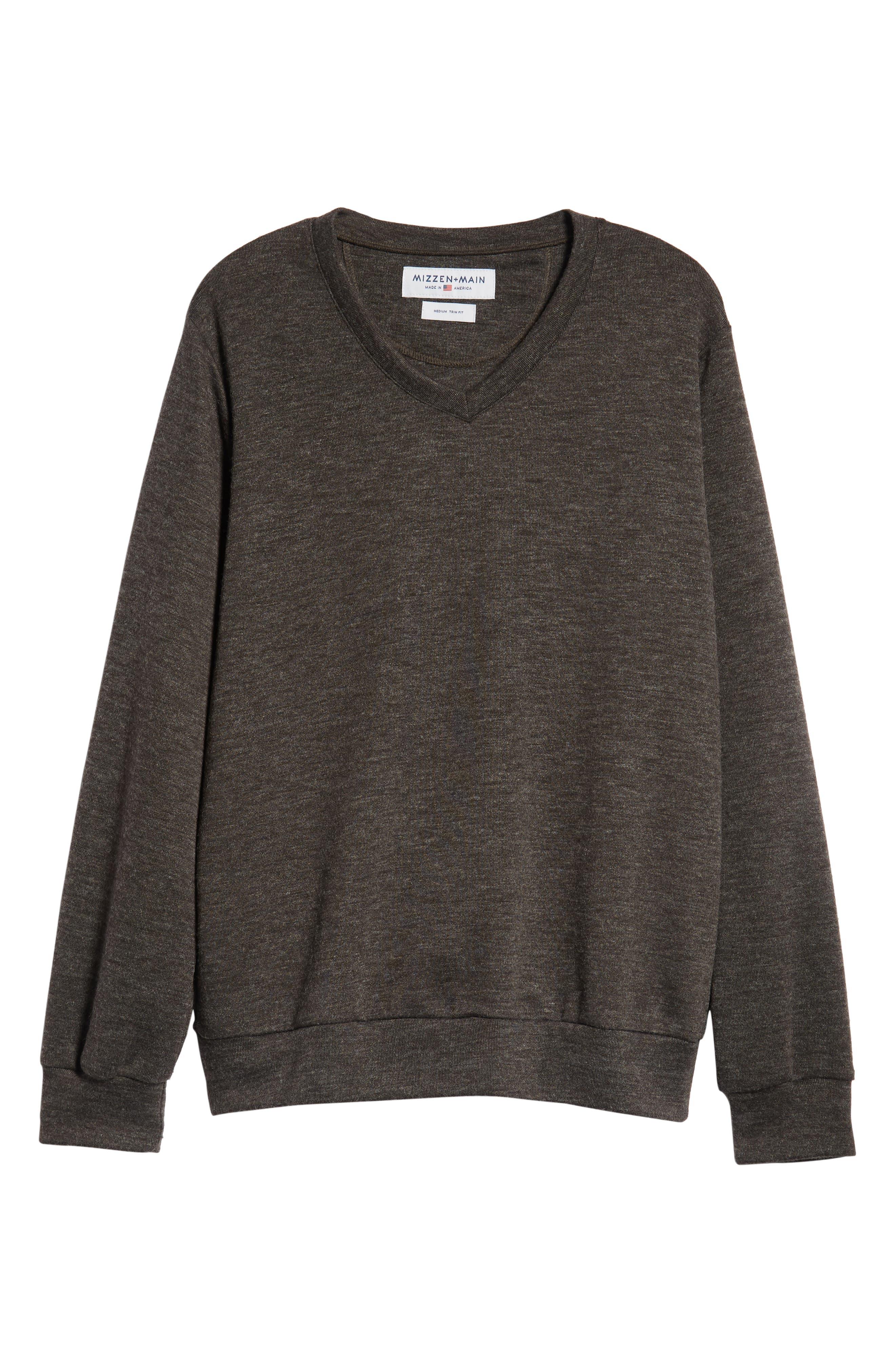 Prospect V-Neck Performance Sweater,                             Alternate thumbnail 6, color,                             CHARCOAL