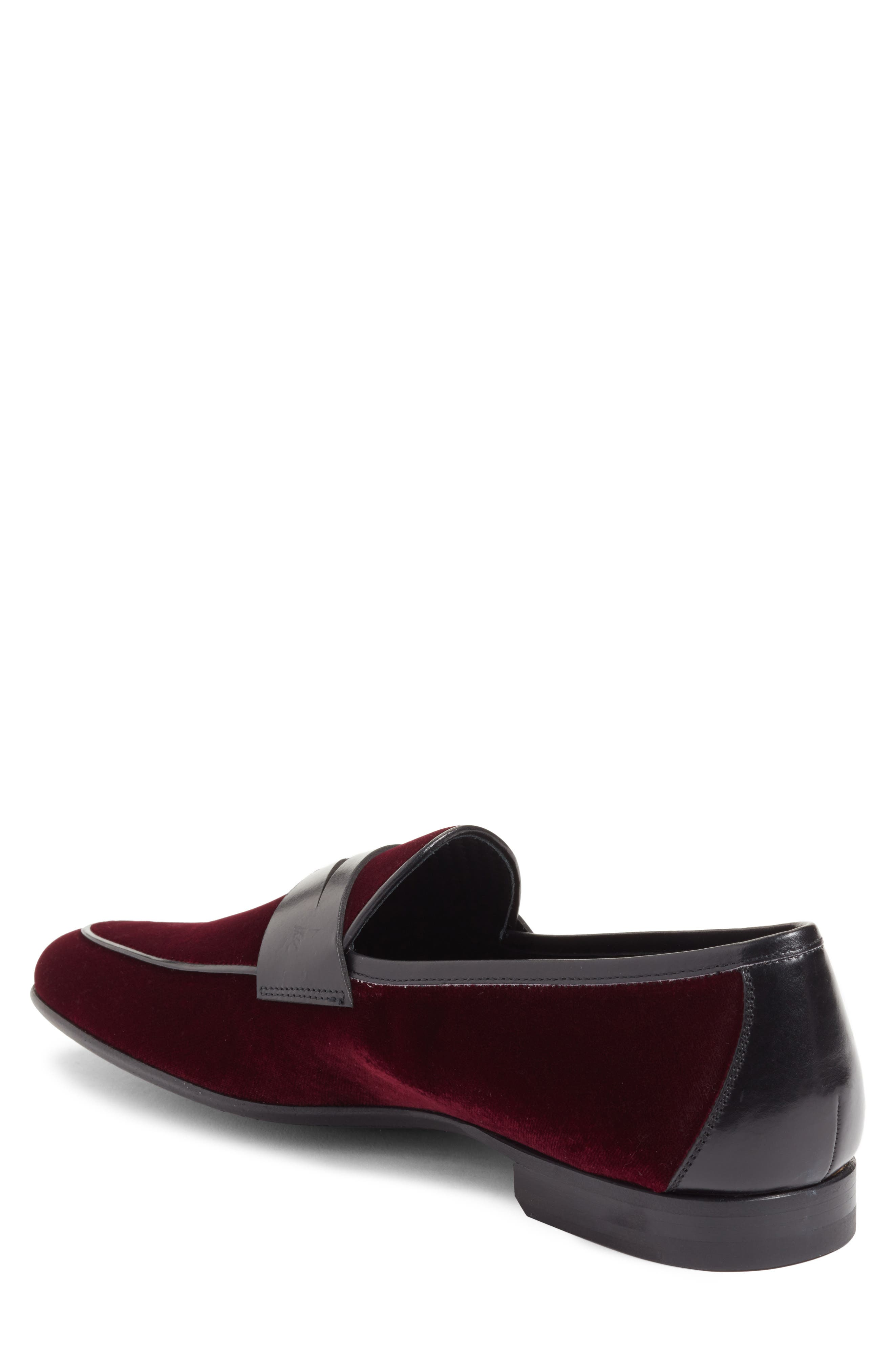 Dorado Penny Loafer,                             Alternate thumbnail 2, color,                             BURGUNDY