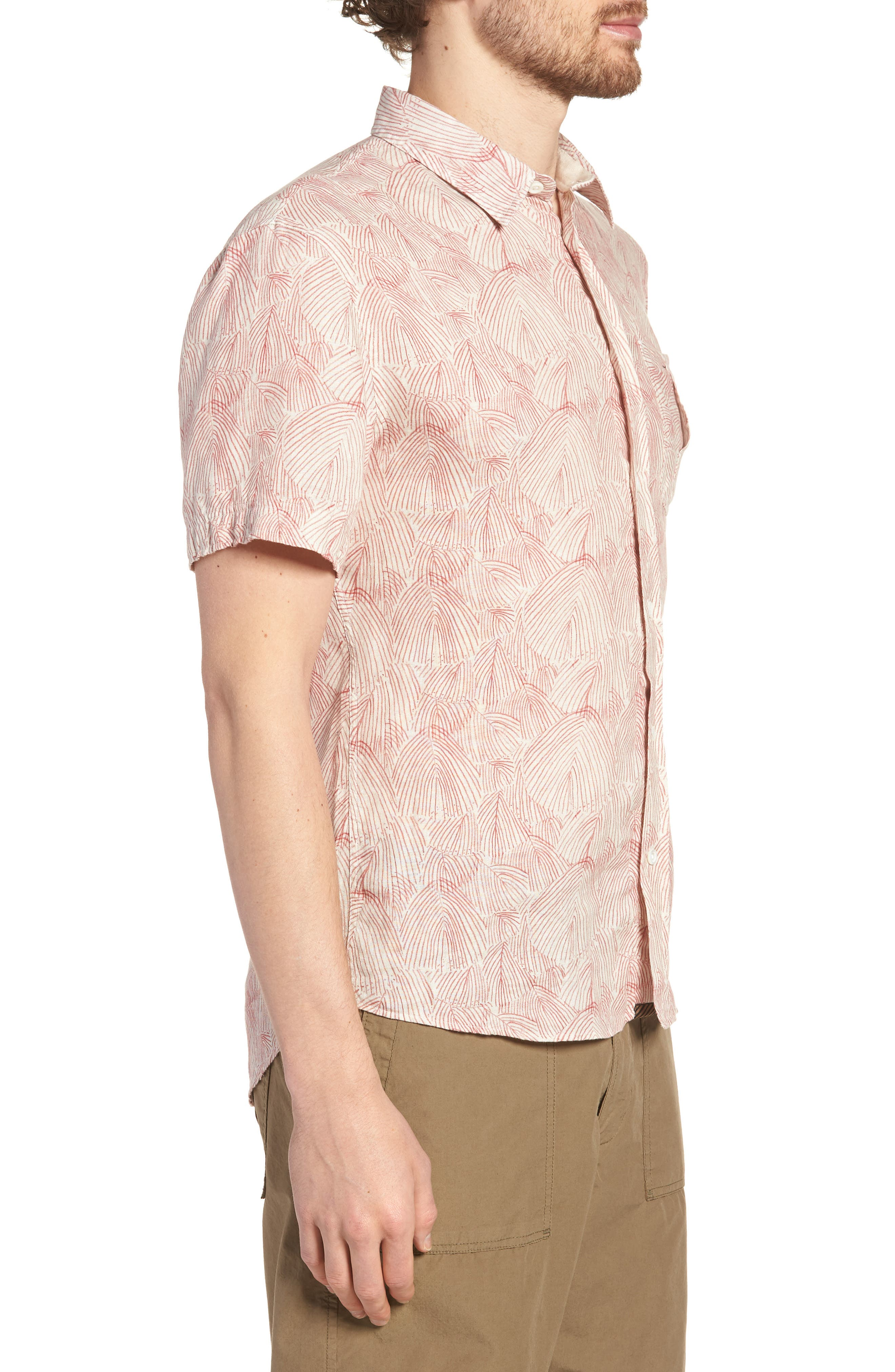 Martin Print Sport Shirt,                             Alternate thumbnail 3, color,                             151