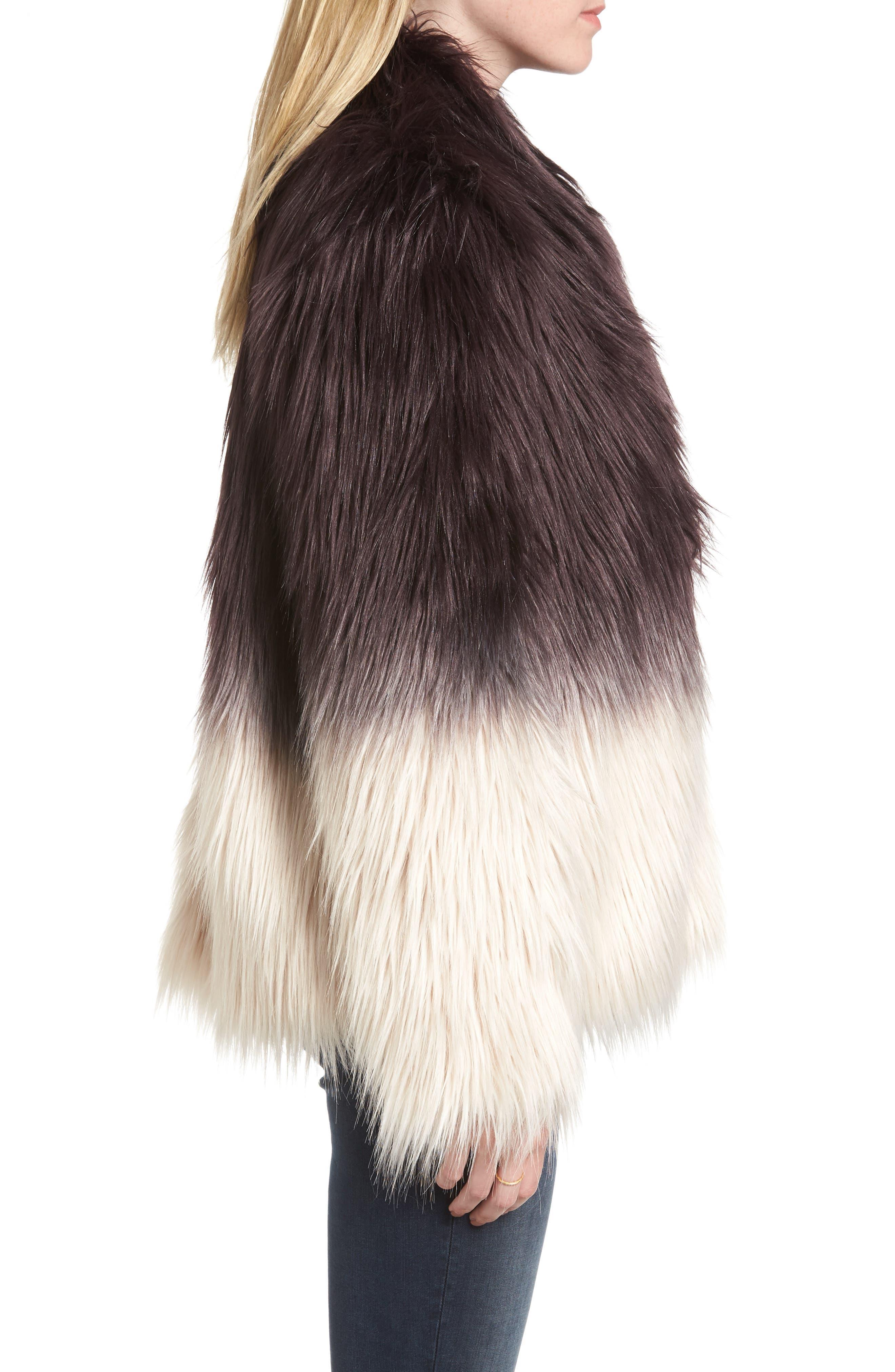 Faux Fur Jacket,                             Alternate thumbnail 3, color,                             501