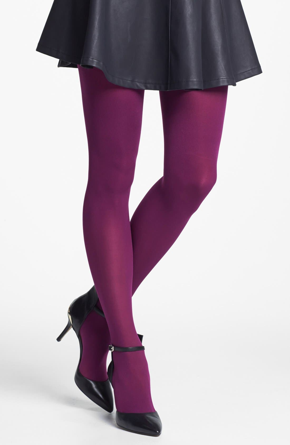 'Everyday' Opaque Tights,                             Main thumbnail 6, color,